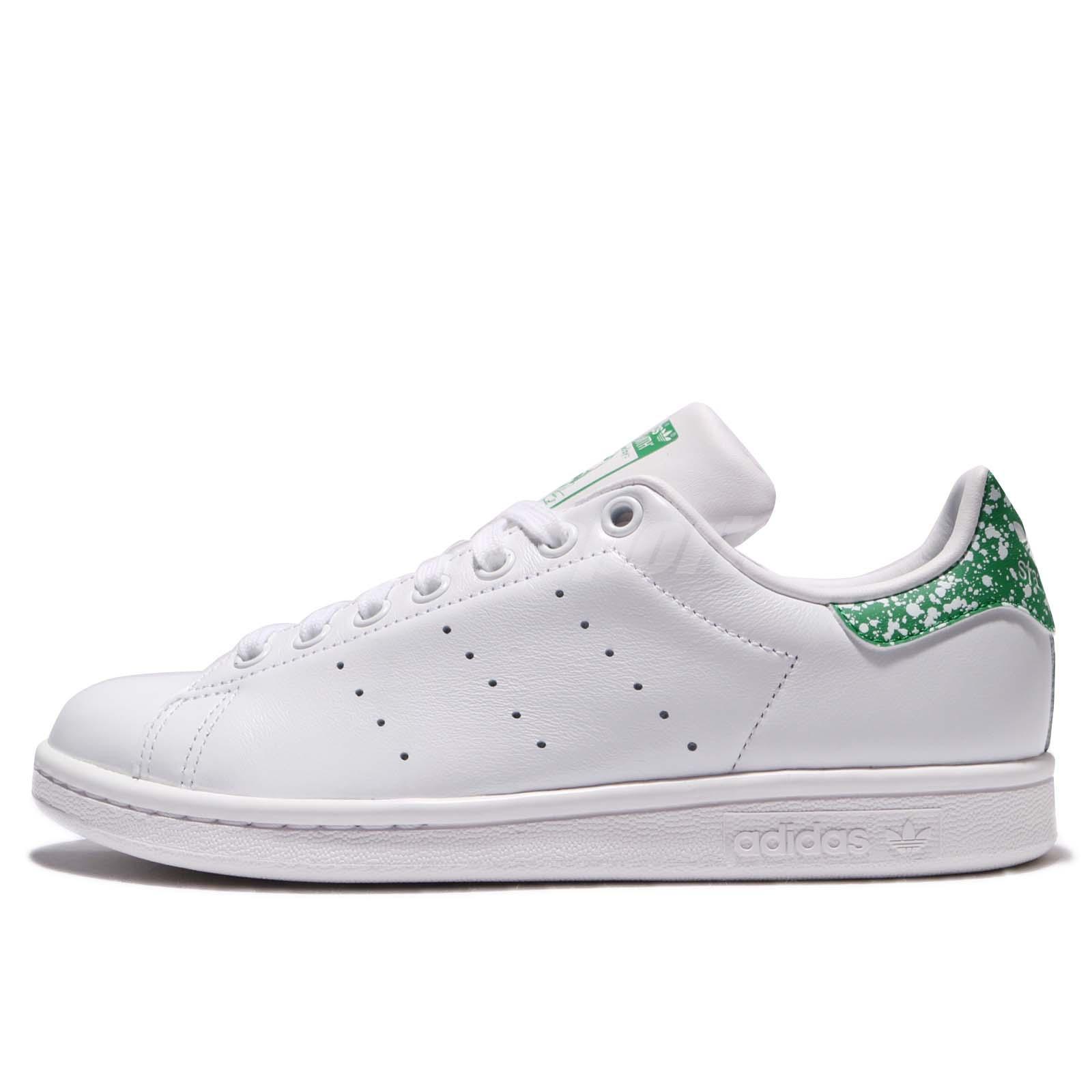 adidas originali stan smith w bianco verde le donne scarpe da ginnastica