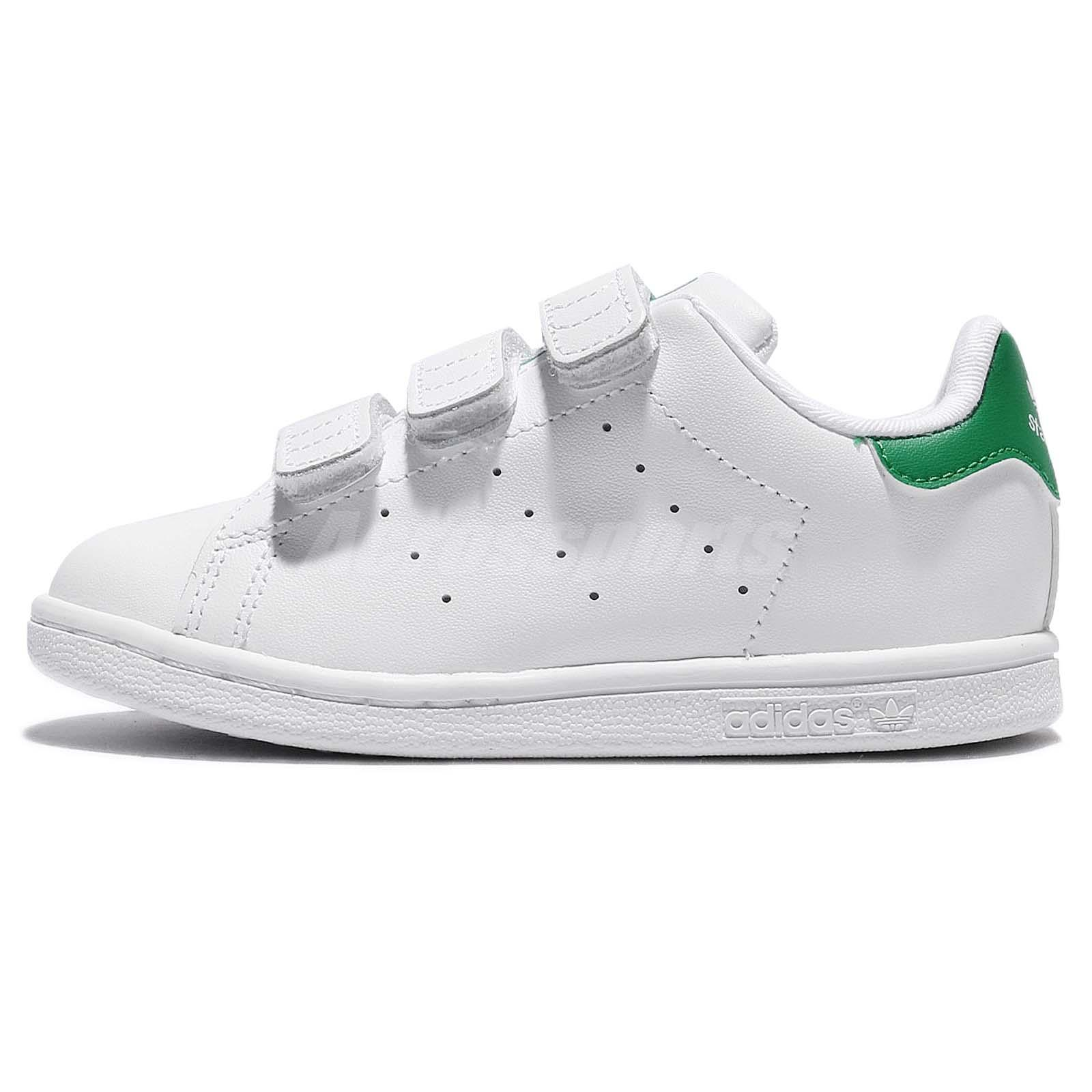 timeless design 7b299 78861 adidas Stan Smith CF I White Green Leather Infant Toddler Baby Shoe BZ0520