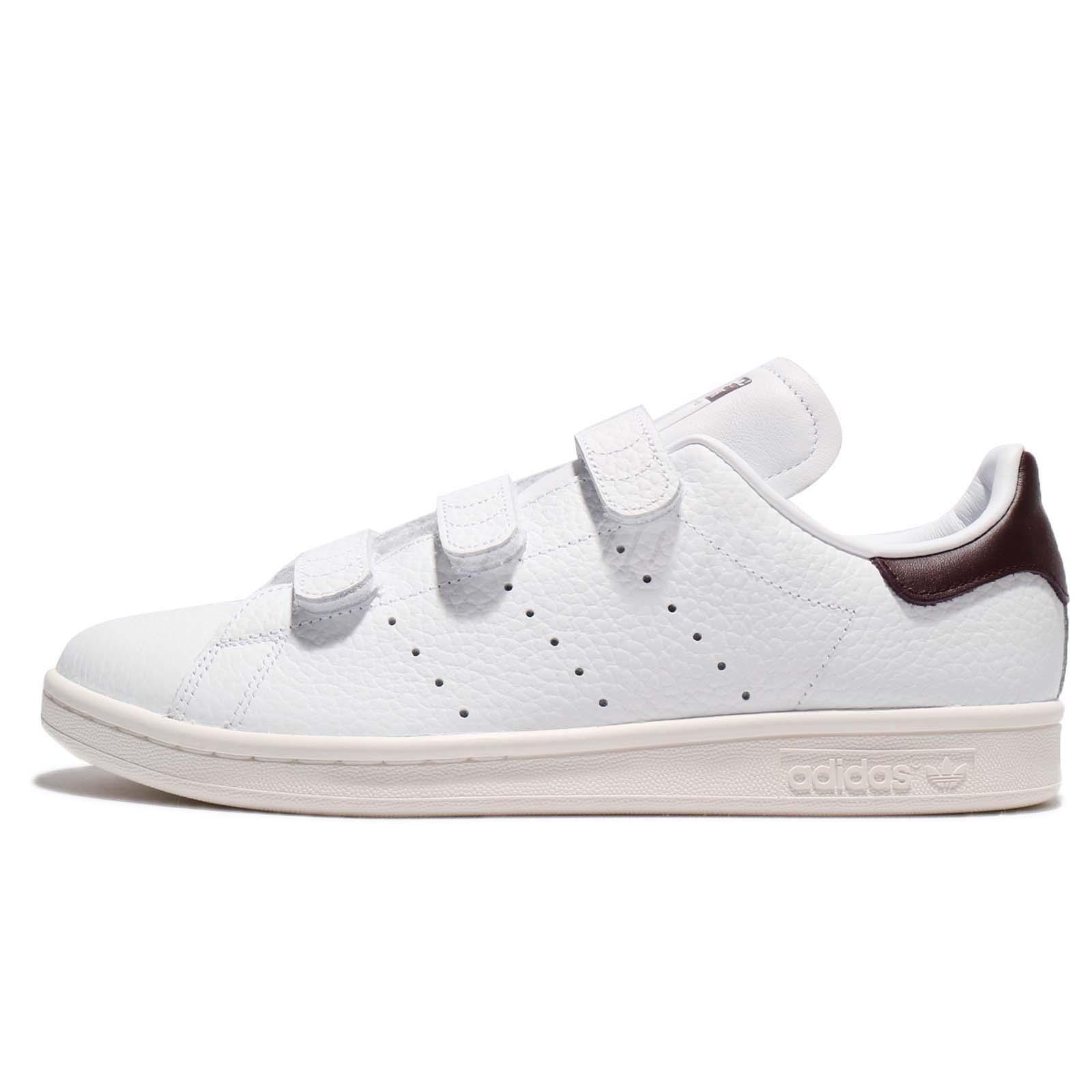 adidas Originals Stan Smith CF White Dark Brown Strap Men Shoes Sneakers  BZ0534