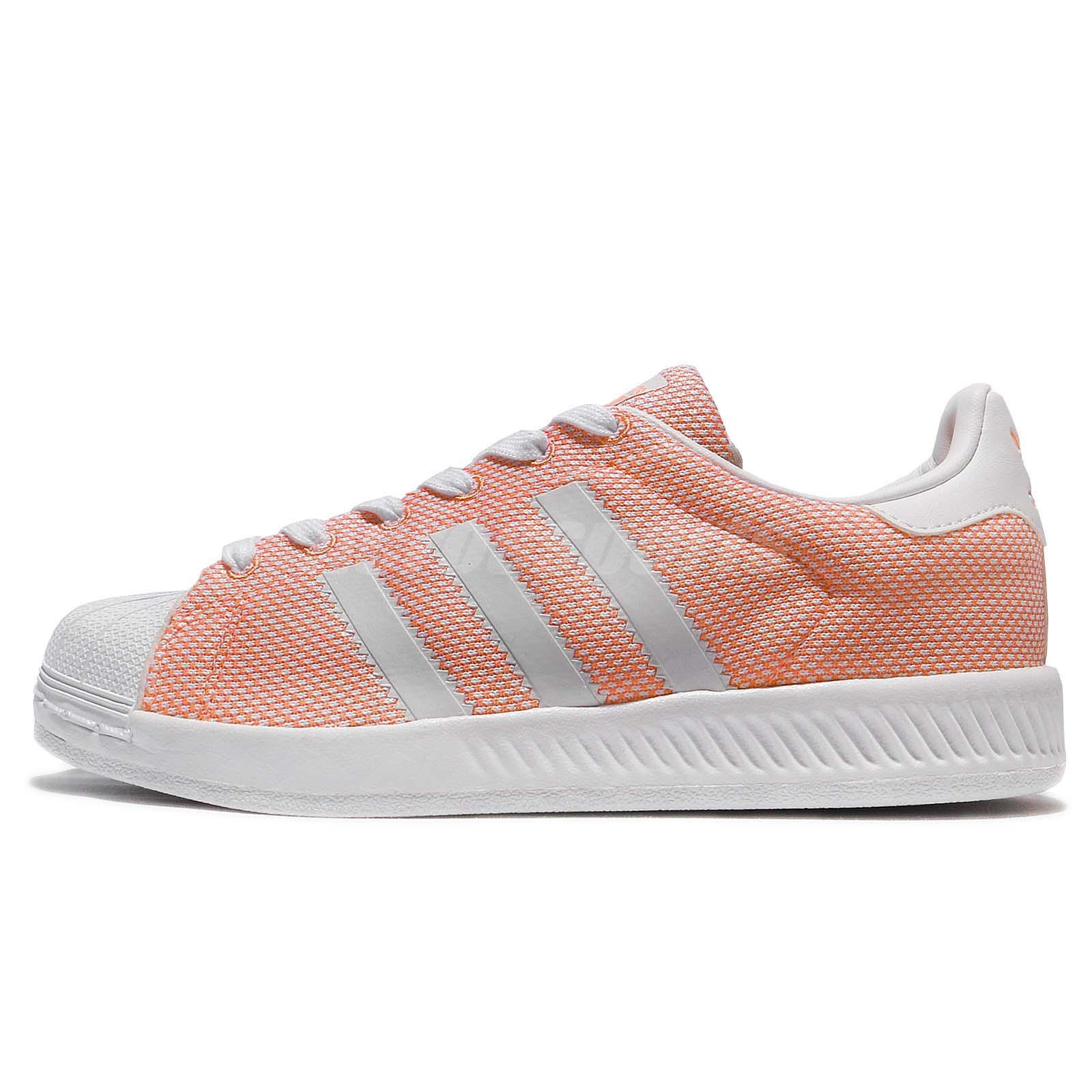 adidas Originals Superstar Bounce W Flash Orange White Women Shoe Sneaker  BZ0635