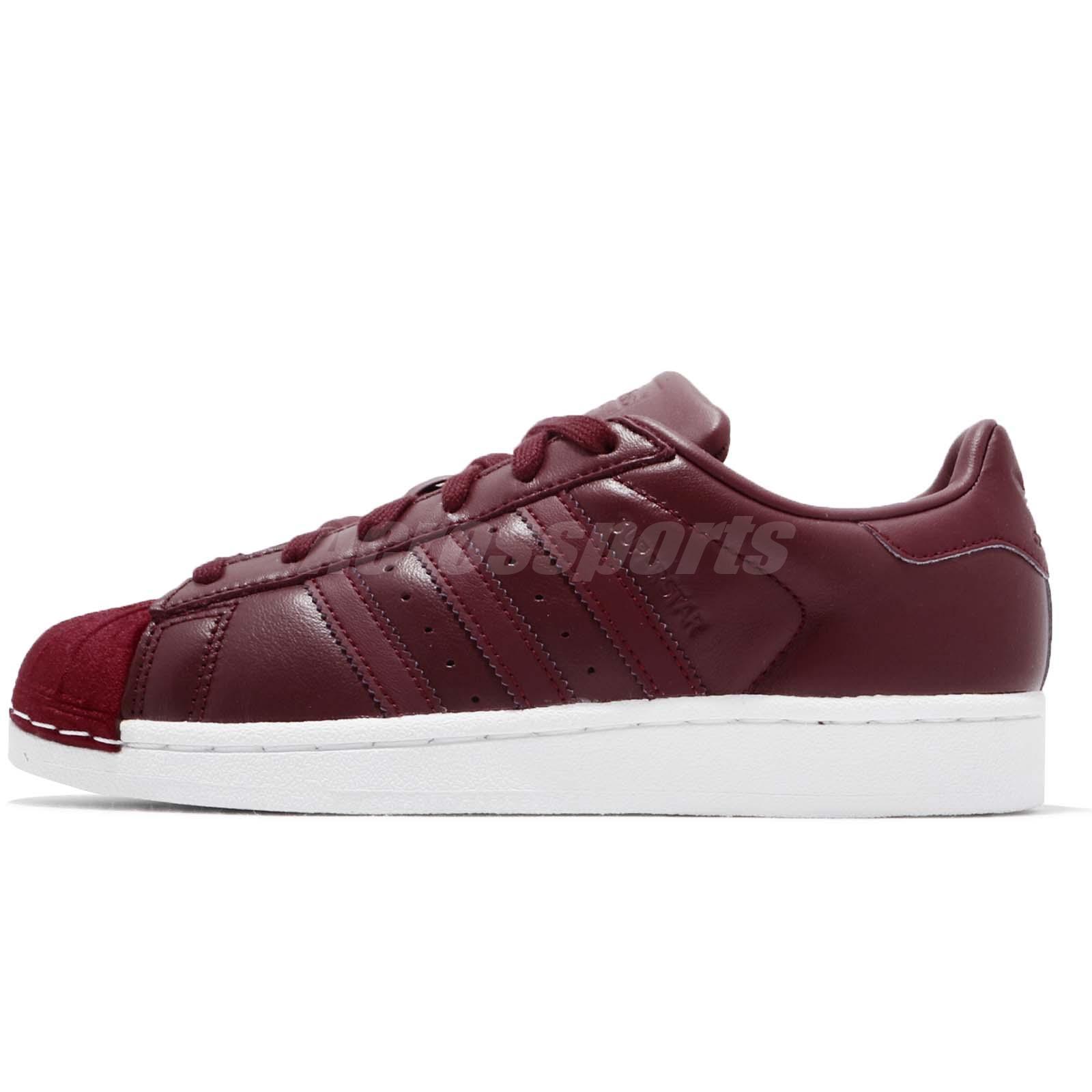 b0ed432d6299d9 Details about adidas Originals Superstar W Collegiate Burgundy Women Shoes  Sneakers BZ0644