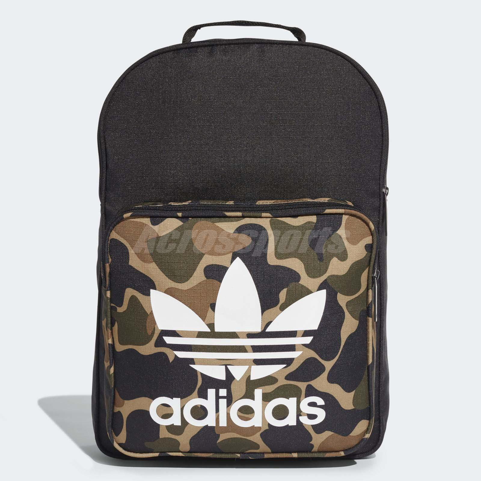 Details about adidas Unisex Originals Classic Camouflage Backpack Black Green CD6121