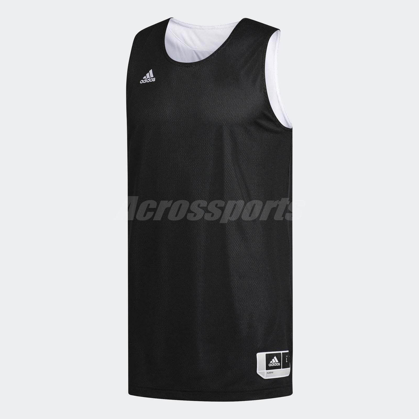 eb68b9281e5074 adidas Men Reversible Crazy Explosive Jersey Tank Sport Gym Black White  CD8699