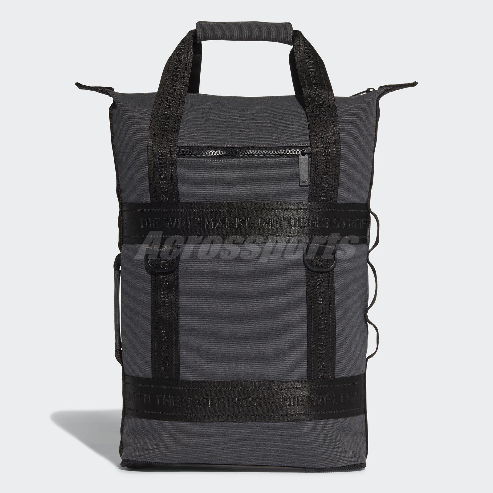 Details about adidas NMD Backpack Grey Black Bag Sport Casual 3 stripes  CE2362 0b649a1be76c2