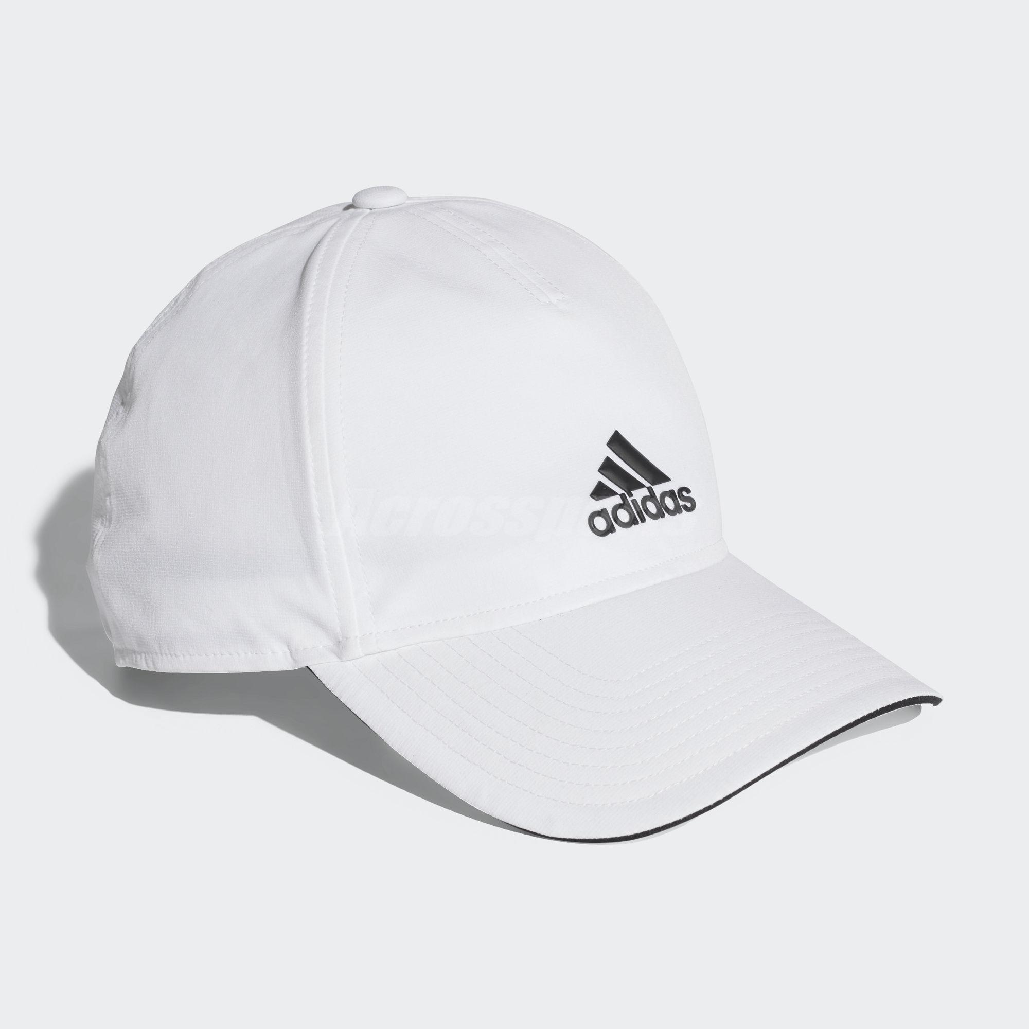 9450ca7aba4 adidas Unisex C40 5 Panels Climalite Cap White Black Sport Baseball ...