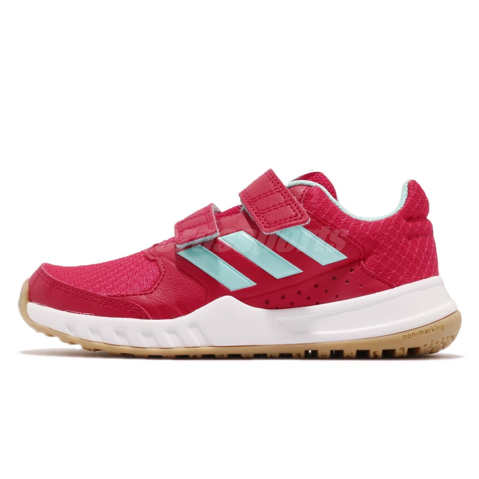 new product 1dea2 0d52b adidas FortaGym CF K Red Blue White Gum Kid Junior Training Shoes Sneaker  CG2680