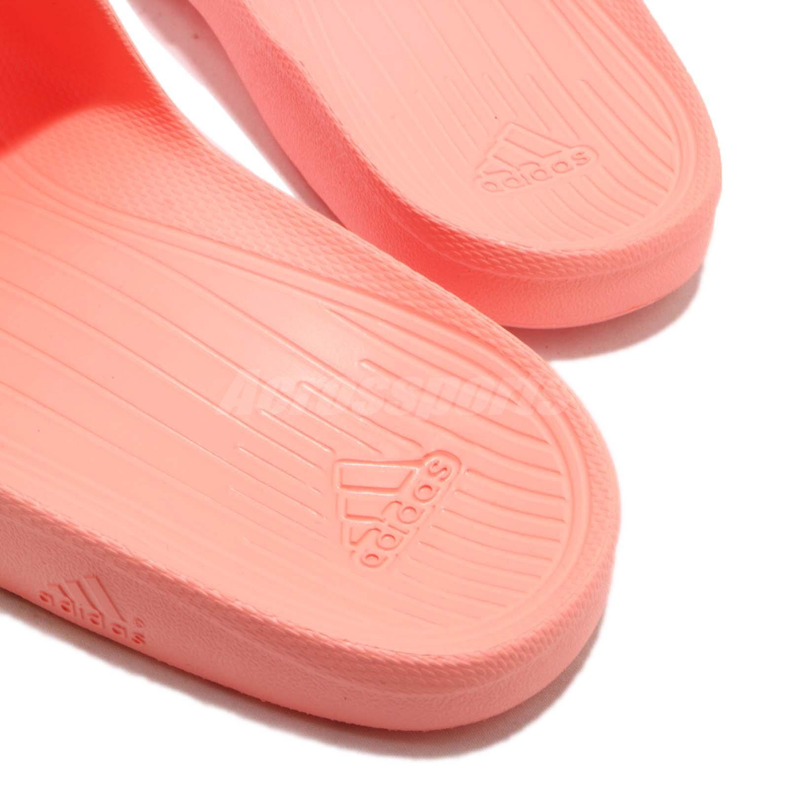 740bc0f749c6cf adidas Duramo Slide Chalk Coral Rubber Women Sports Sandal Slippers ...