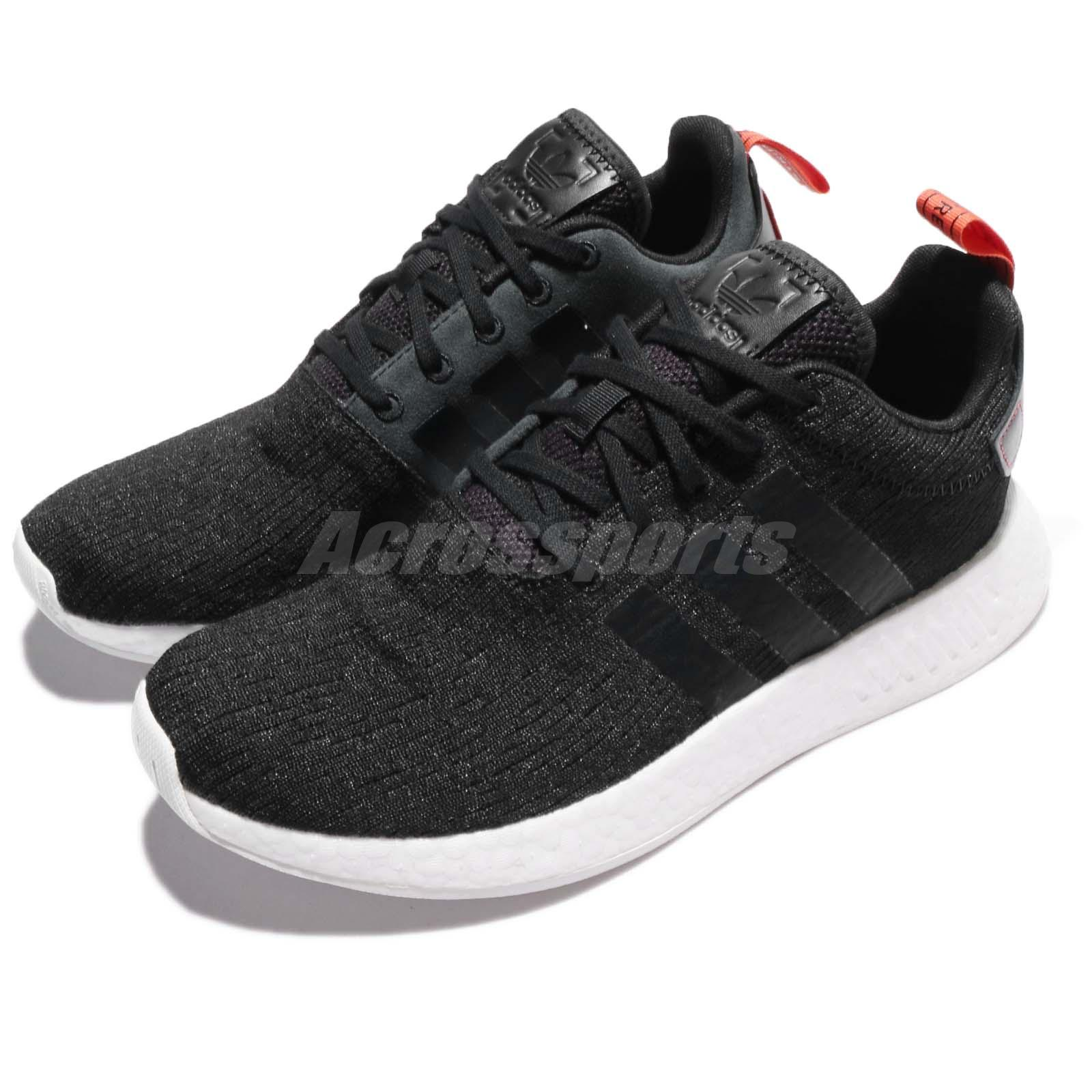 Details about adidas Originals NMD_R2 BOOST Black Orange Men Running Shoes Sneakers CG3384