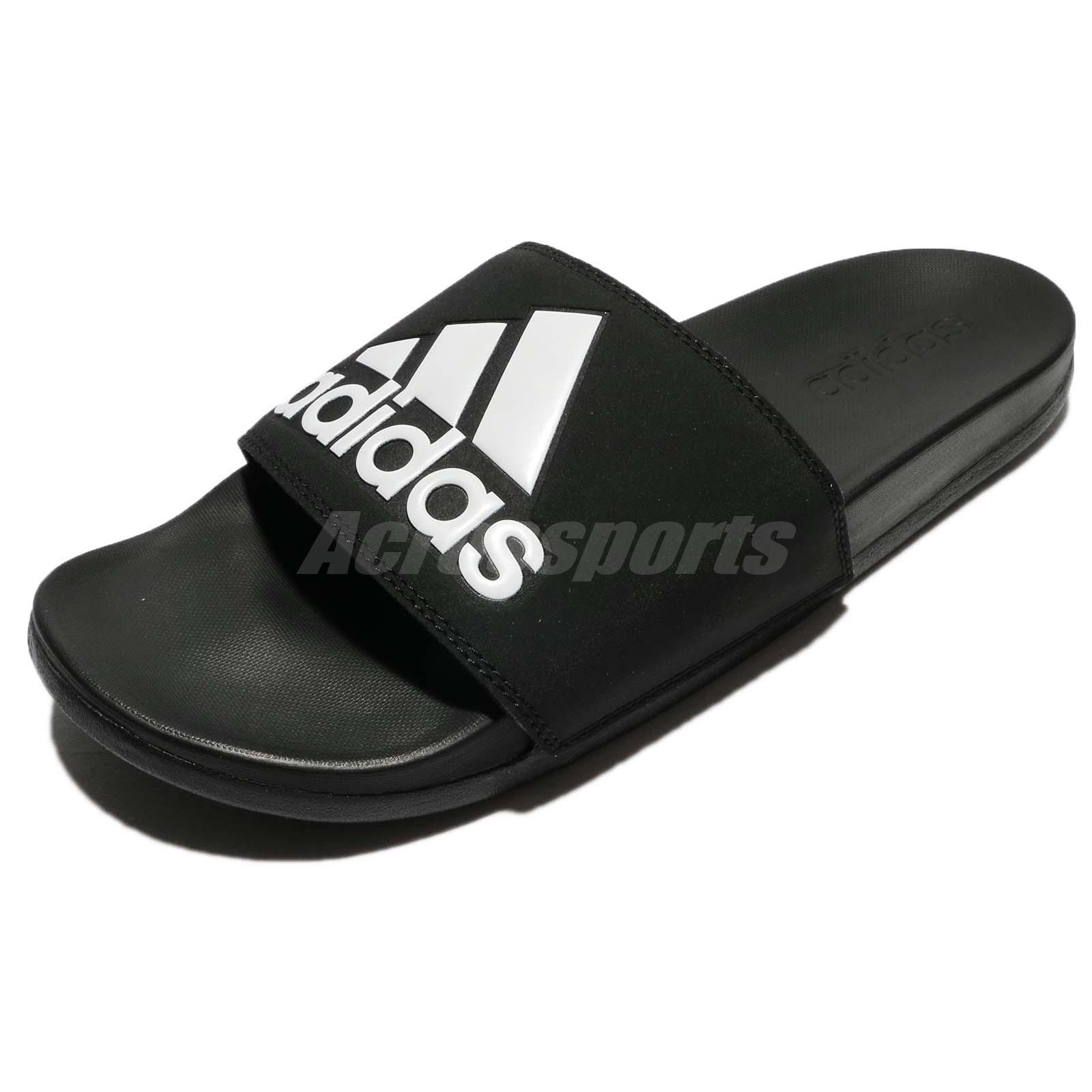 6d146fcb6c6875 adidas Adilette CF Comfort Logo Black White Men Sandal Slides Slippers  CG3425