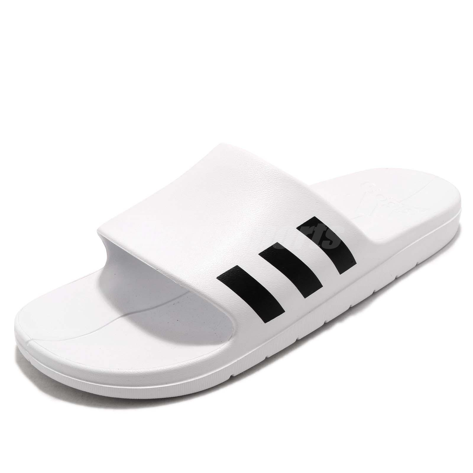 21fbee3a7ed adidas Aqualette White Black Men Sports Sandals Slides Slippers CG3538