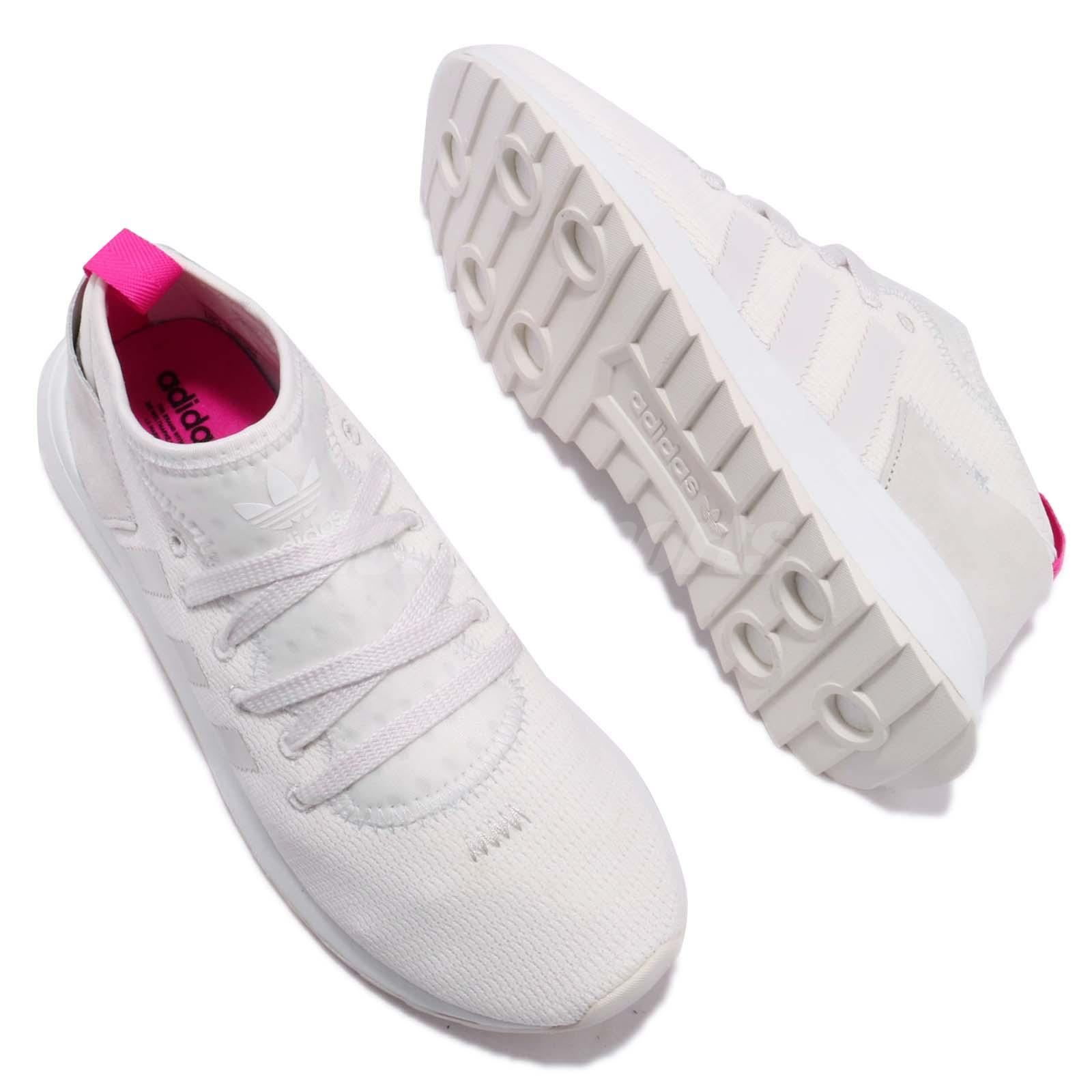 new style 35dbe 19f51 adidas Originals FLB Mid Flashback White Pink Women Shoes Sneakers ...