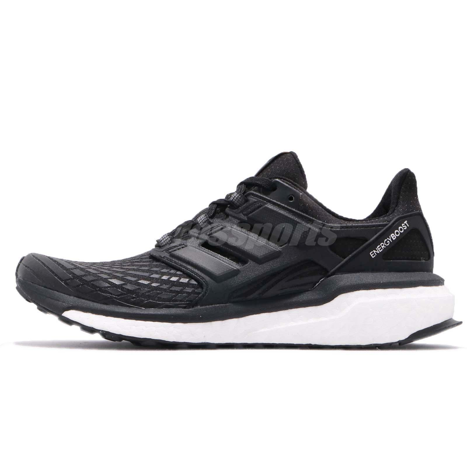 timeless design b4ecb d8cd1 adidas Energy Boost W Continental Black White Women Running Shoes Sneaker  CG3972