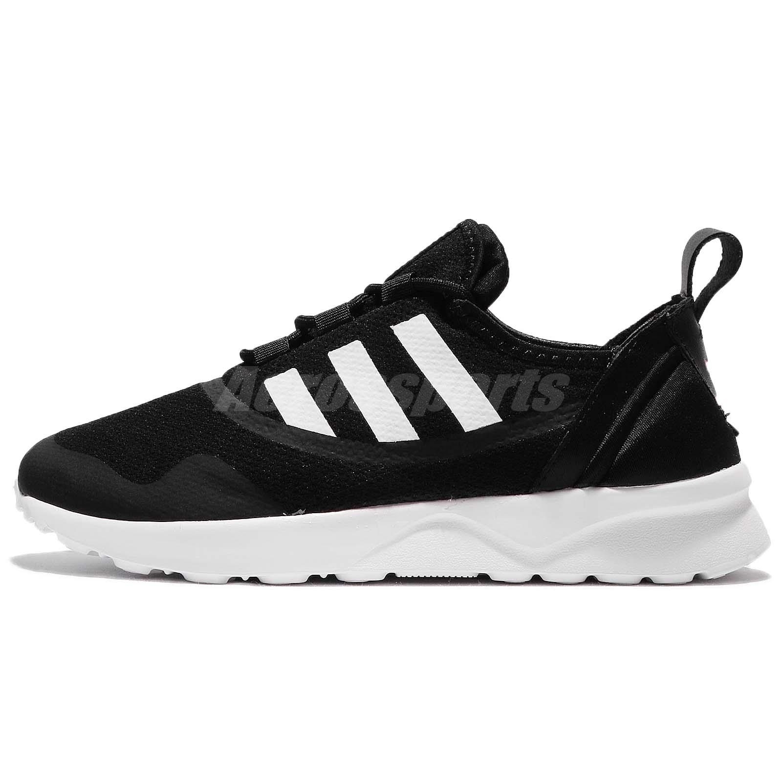 new product 1bb11 9467e adidas Originals ZX Flux ADV Virtue W Black White Women Running Shoes CG4090