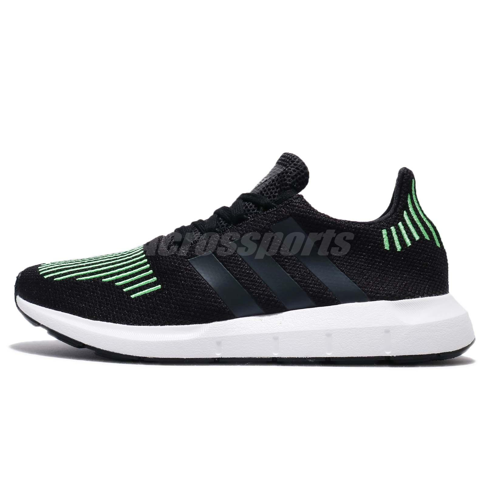 low priced e310c be282 adidas Originals Swift Run Black Green Men Running Shoes .