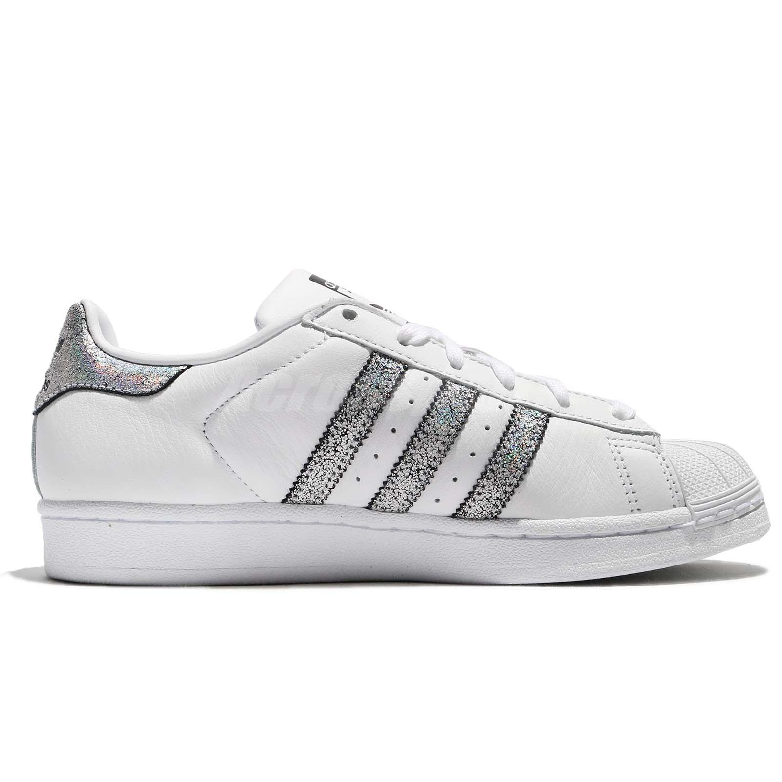 check out 3811e 332b1 Details about adidas Originals Superstar W White Silver Black Women Shoes  Sneakers CG5455