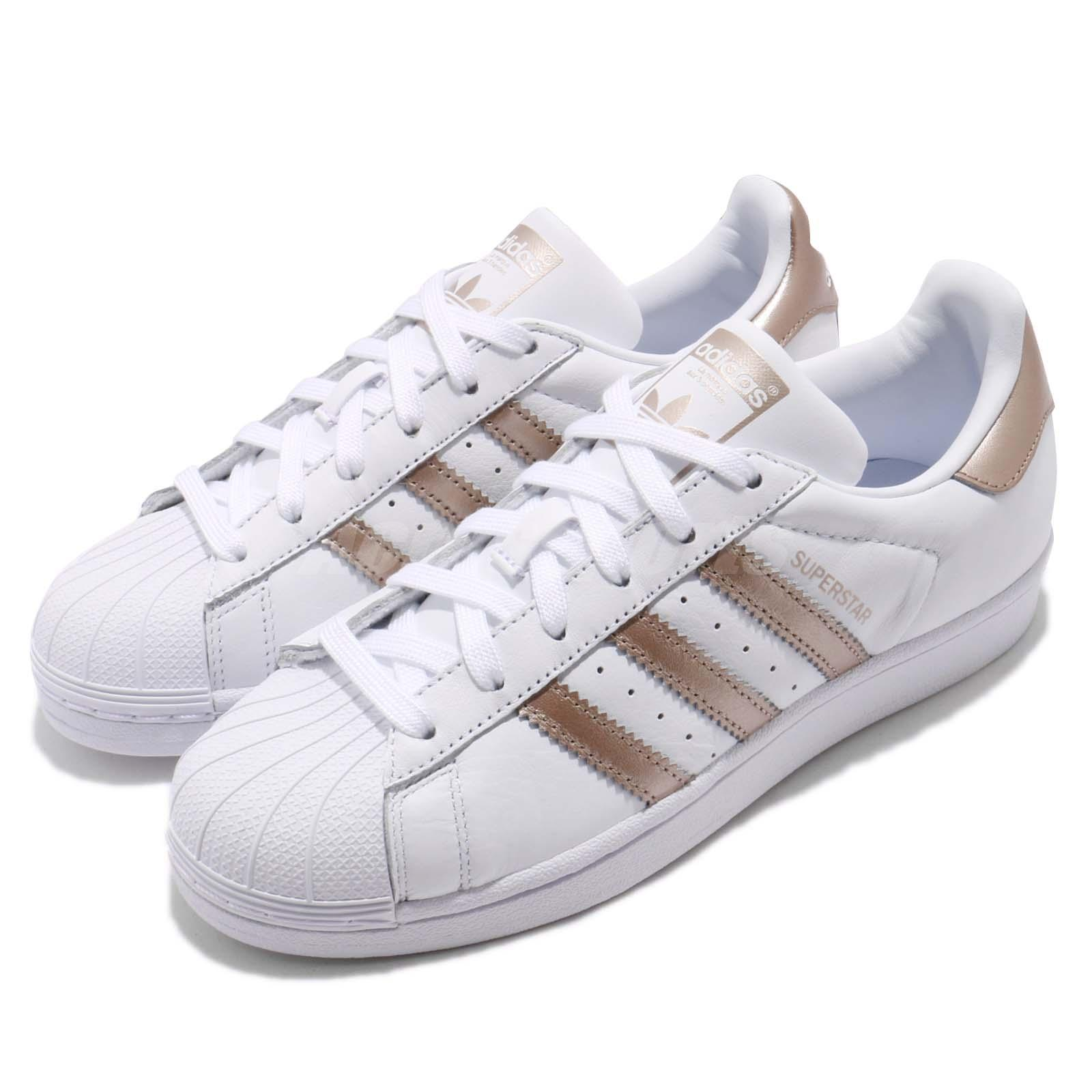 buy online 9b05f 044e5 Details about adidas Originals Superstar W White Rose Gold Women Classic  Shoes Sneakers CG5463