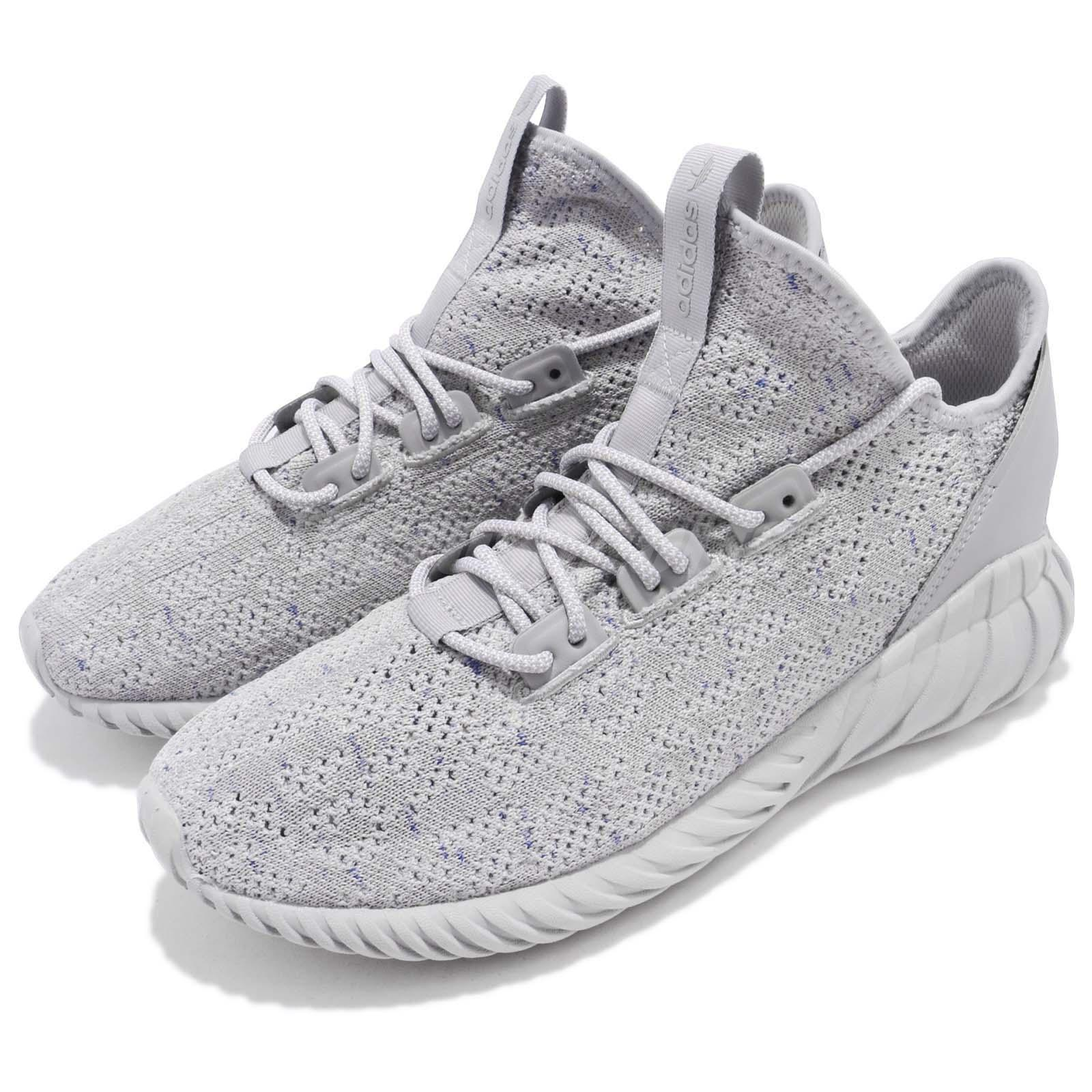 dfeffbcce7b2 Details about adidas Originals Tubular Doom Sock PK Primeknit Grey Men  Running Shoes CG5512