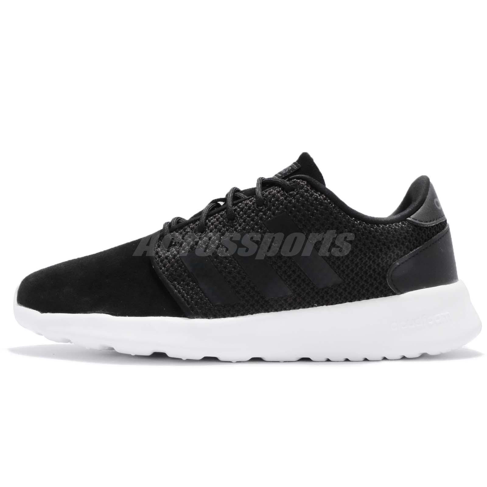 Adidas di qt racer w bianco nero le donne scarpe da ginnastica