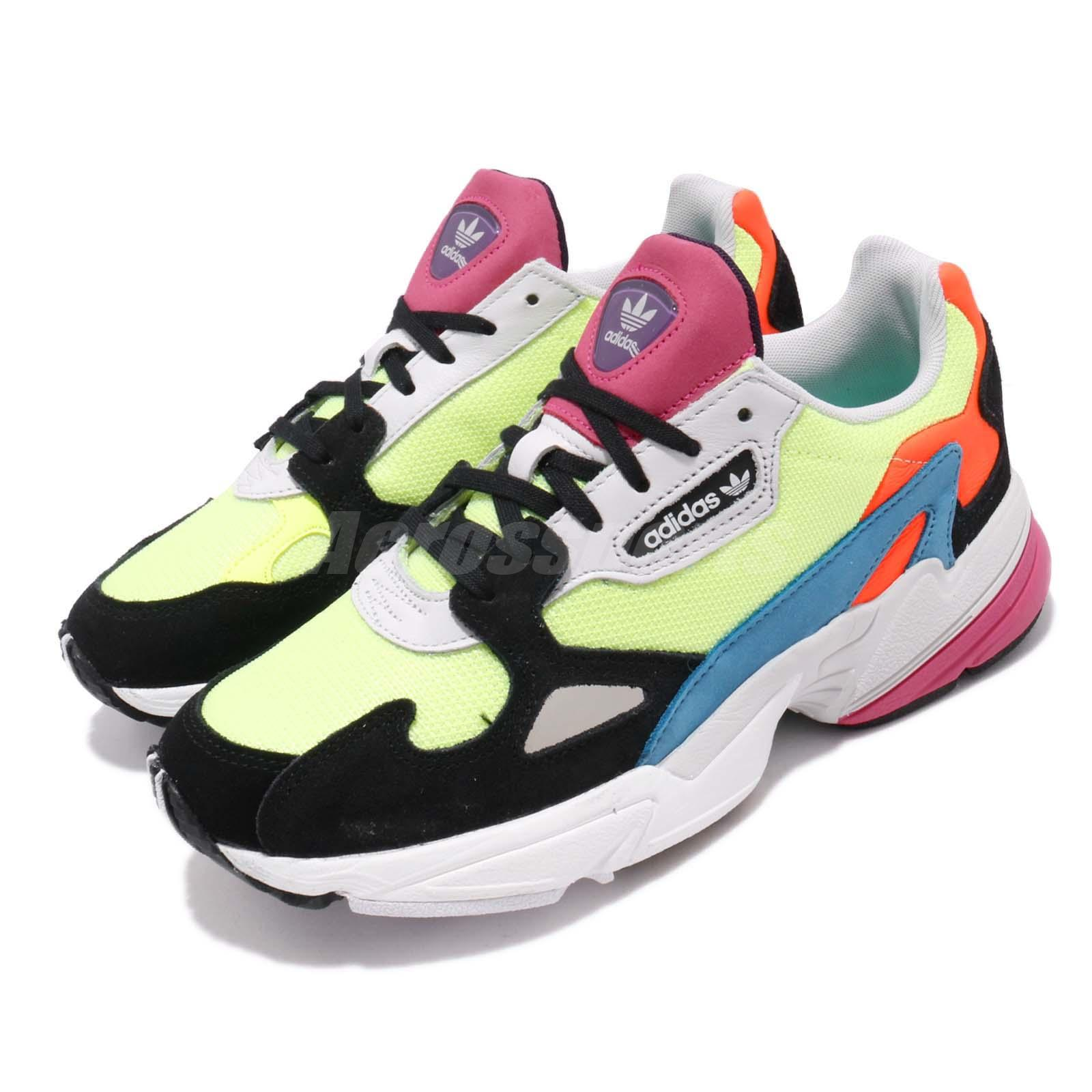Details about adidas Originals Falcon W Yellow Black Multi-Color Women  Running Shoes CG6210