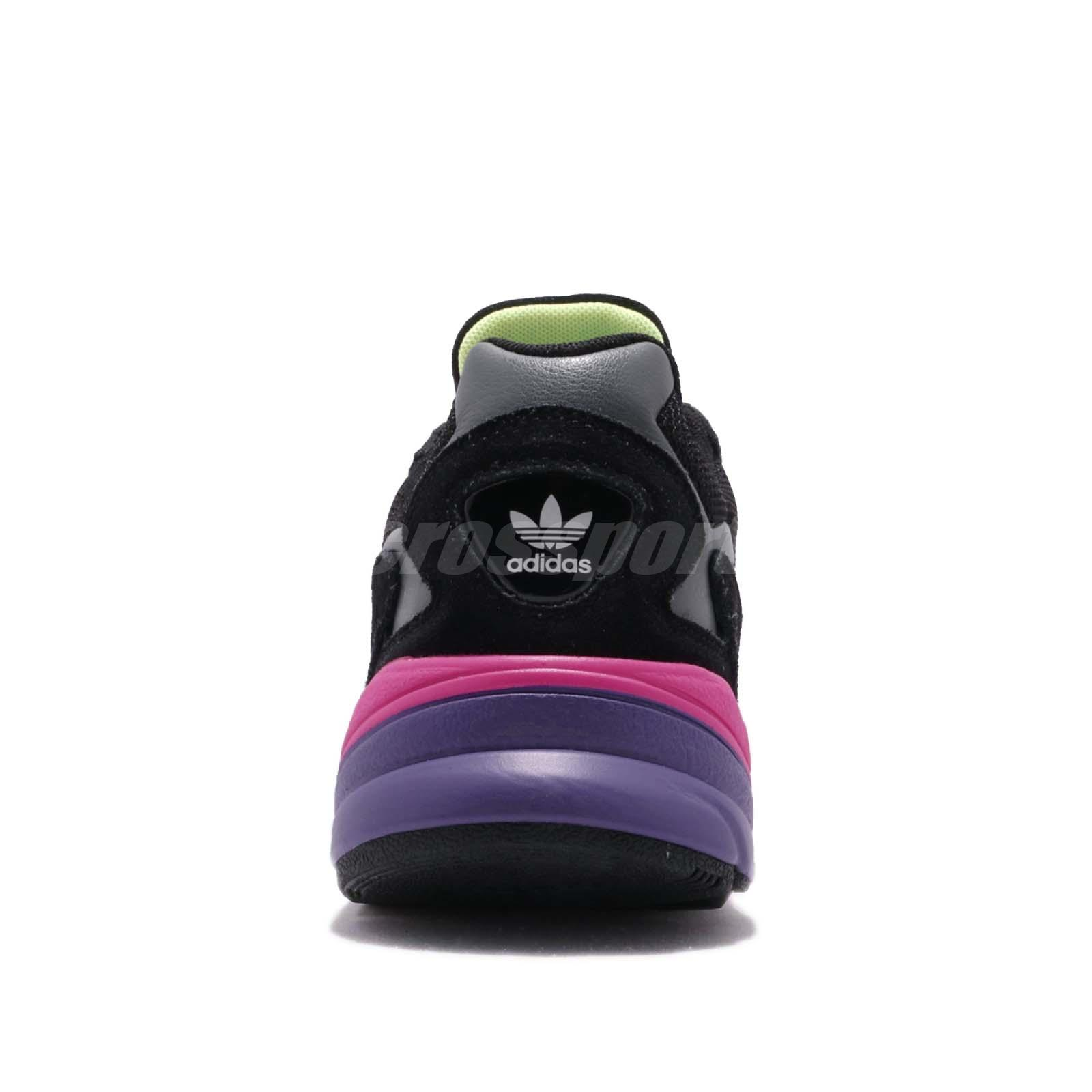 Details about adidas Originals Falcon W Black Shock Pink Purple Womens Running Shoes CG6219
