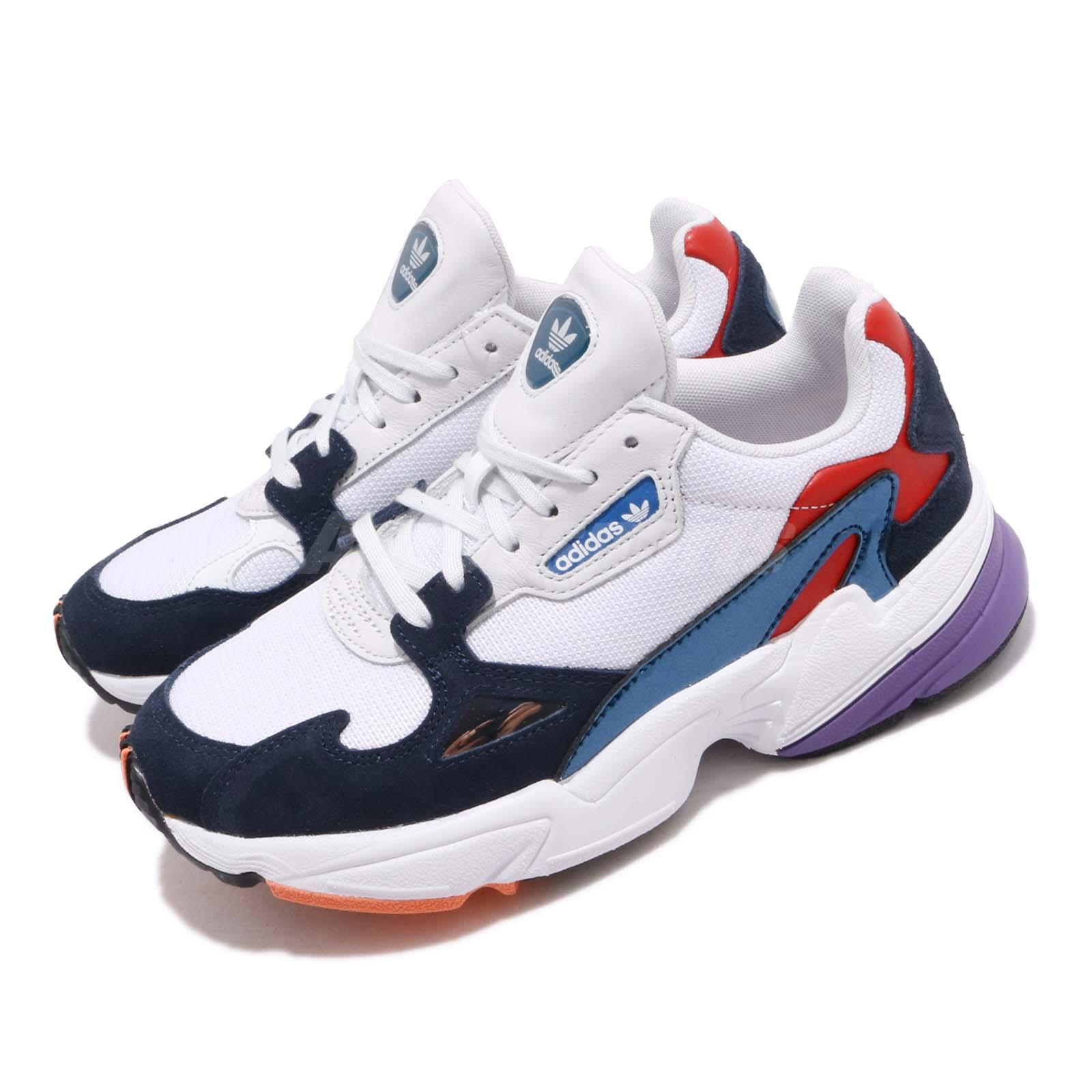 Details about adidas Originals Falcon W White Navy Red Purple Women Lifestyle Shoes CG6246