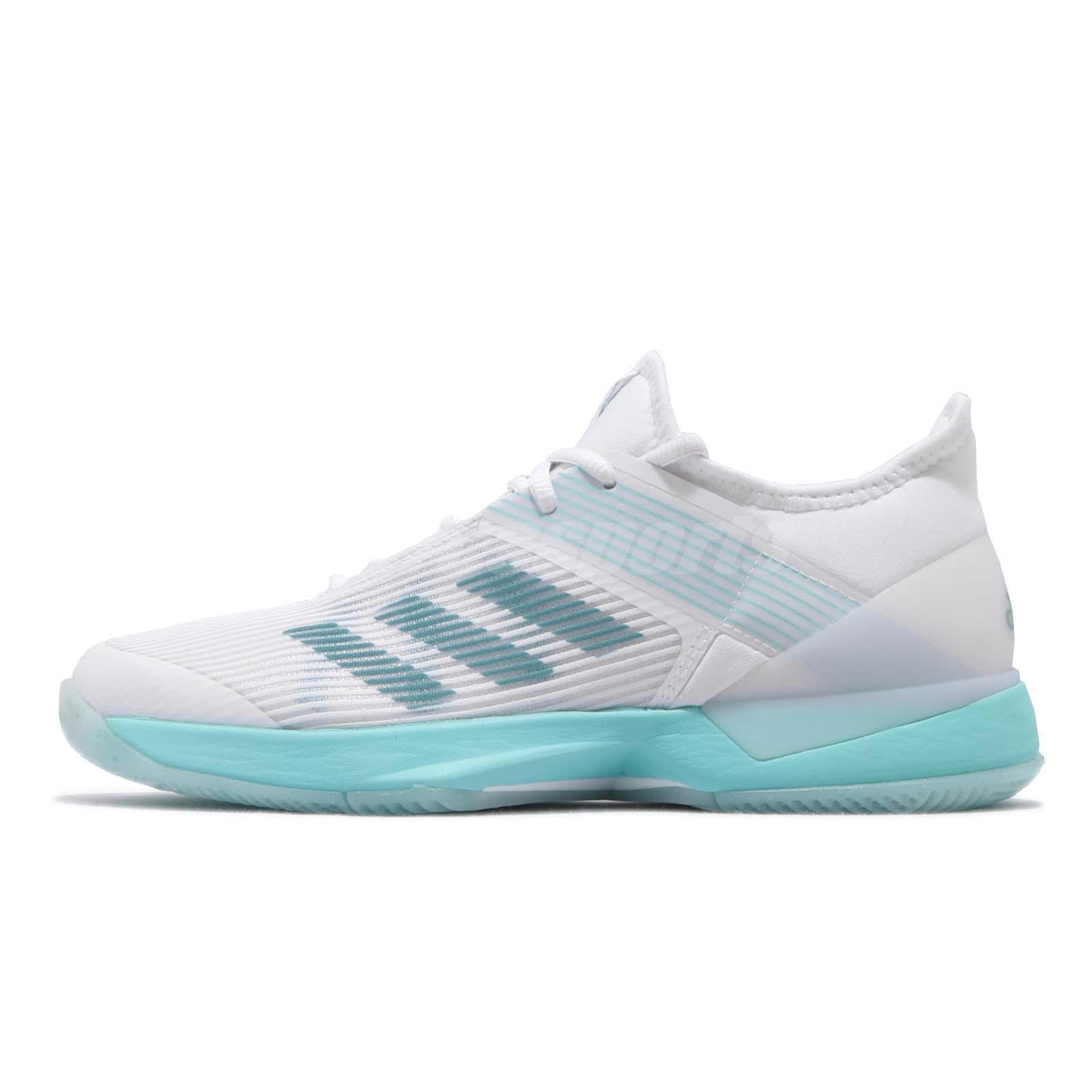 best sneakers ac498 11230 adidas Adizero Ubersonic 3 W X Parley Blue Spirit White Women Tennis Shoe  CG6443