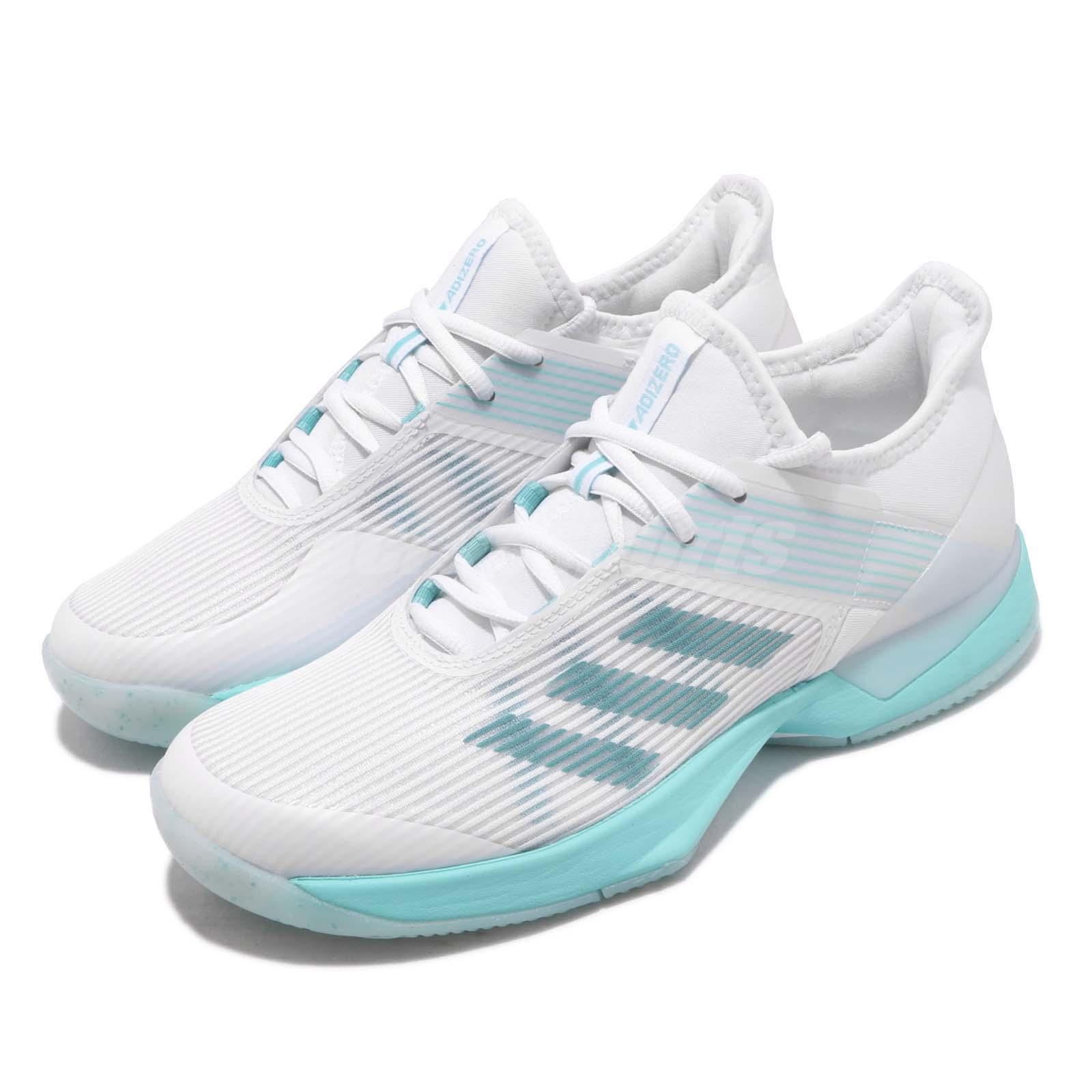 dc6f4cb4d0b Details about adidas Adizero Ubersonic 3 W X Parley Blue Spirit White Women  Tennis Shoe CG6443