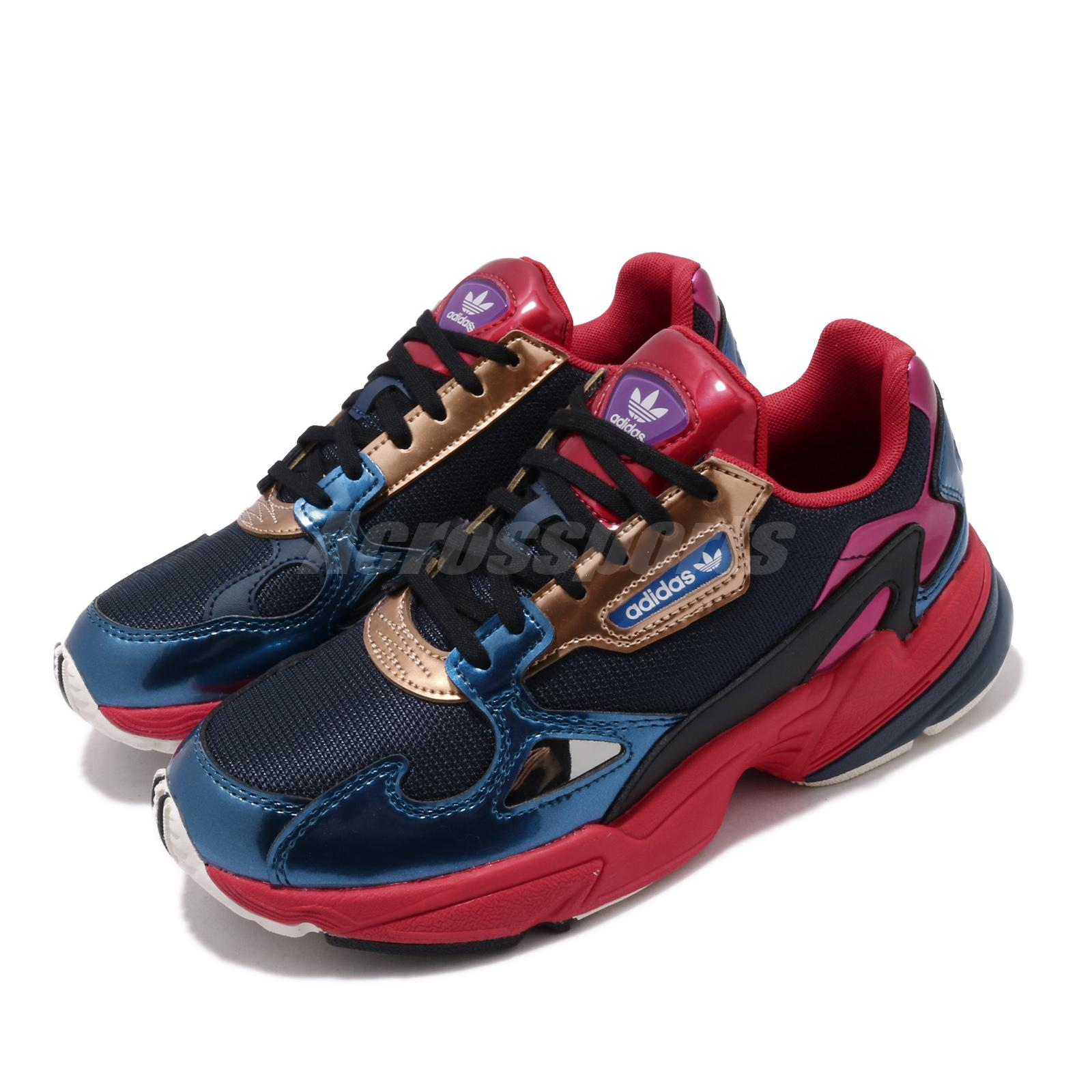 adidas Originals Falcon W Navy Red Gold Womens Casual Shoes Daddy