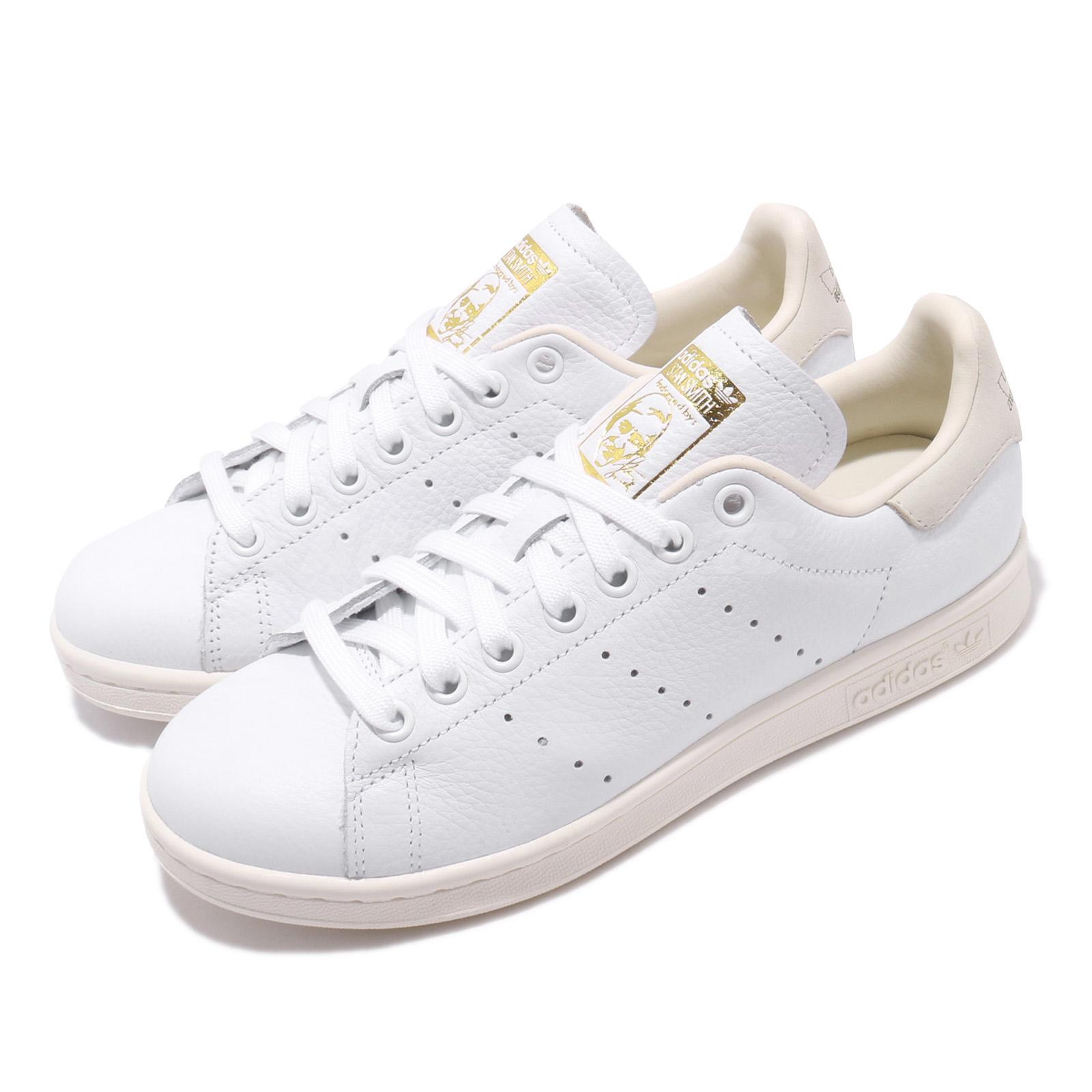 Details about adidas Originals Stan Smith W Off White Ivory Gold Women Casual Shoes CG6820