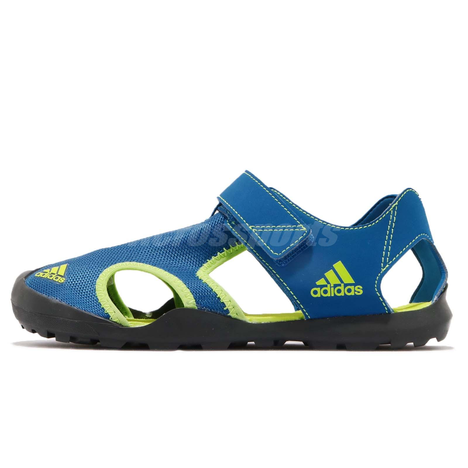 81b5a23fa adidas Captain Toey K Blue Solar Slime Kid Junior Outdoor Sandal Shoes  CM7639