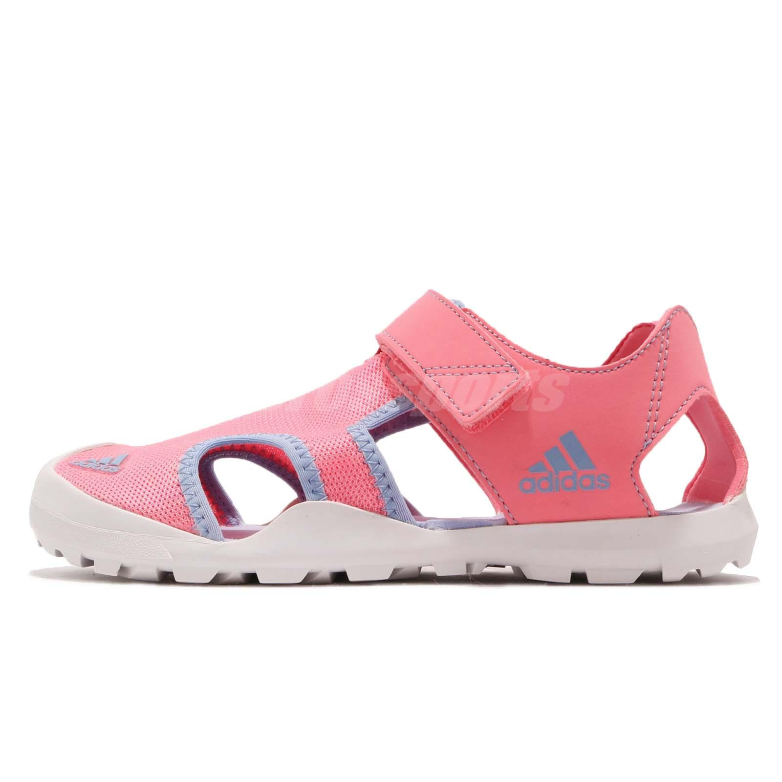 5ad02f684 adidas Captain Toey K Pink Blue Kid Junior Outdoor Sports Sandal Shoes  CM7640