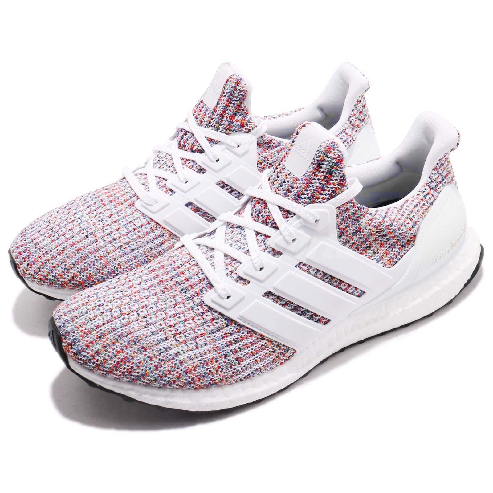 timeless design e2e17 36b88 Details about adidas UltraBOOST 4.0 Rainbow Multi Color White Men Running  Shoes Sneaker CM8111