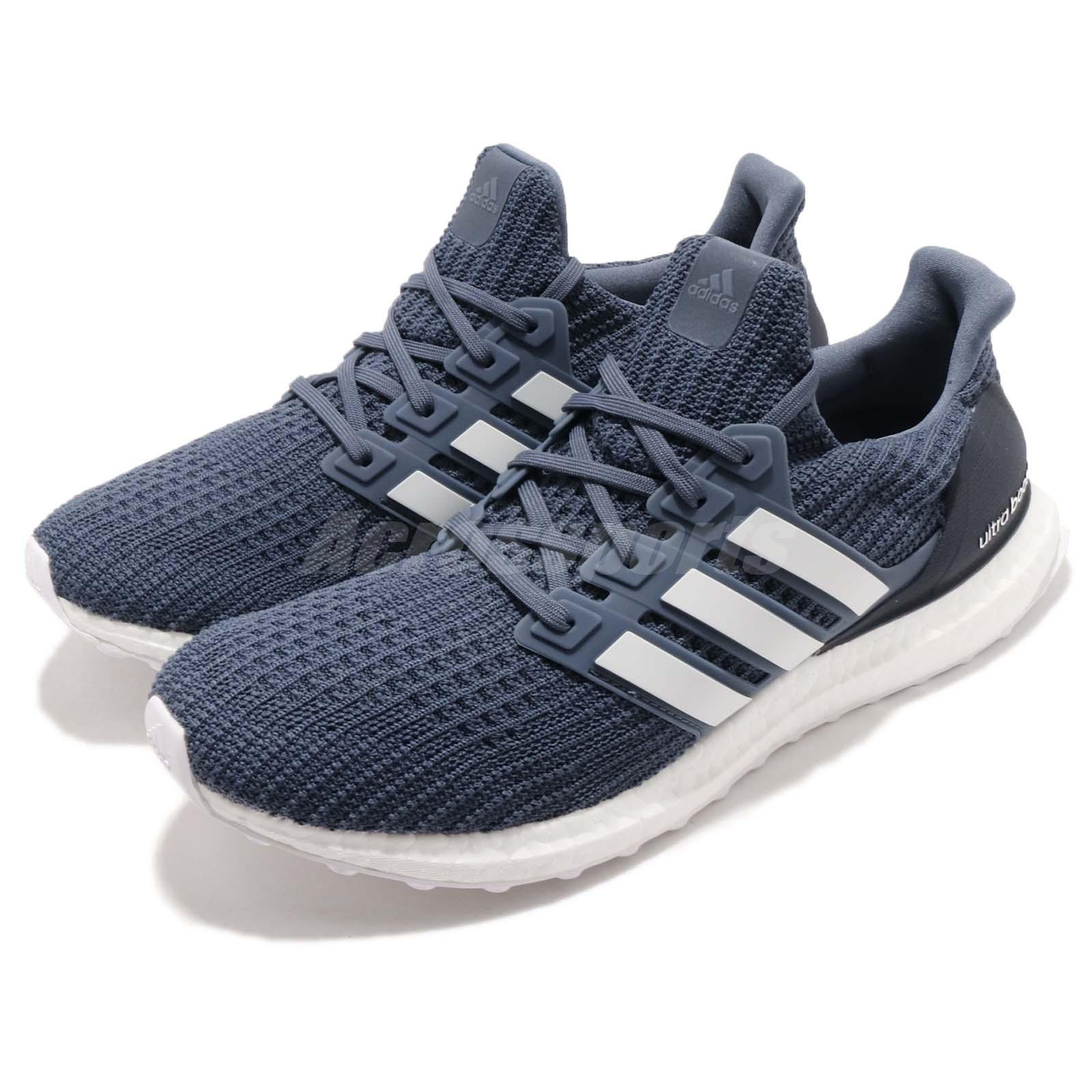 fce757aabf00f Details about adidas Ultraboost 4.0 Show Your Stripes Tech Ink White Men  Running Shoes CM8113
