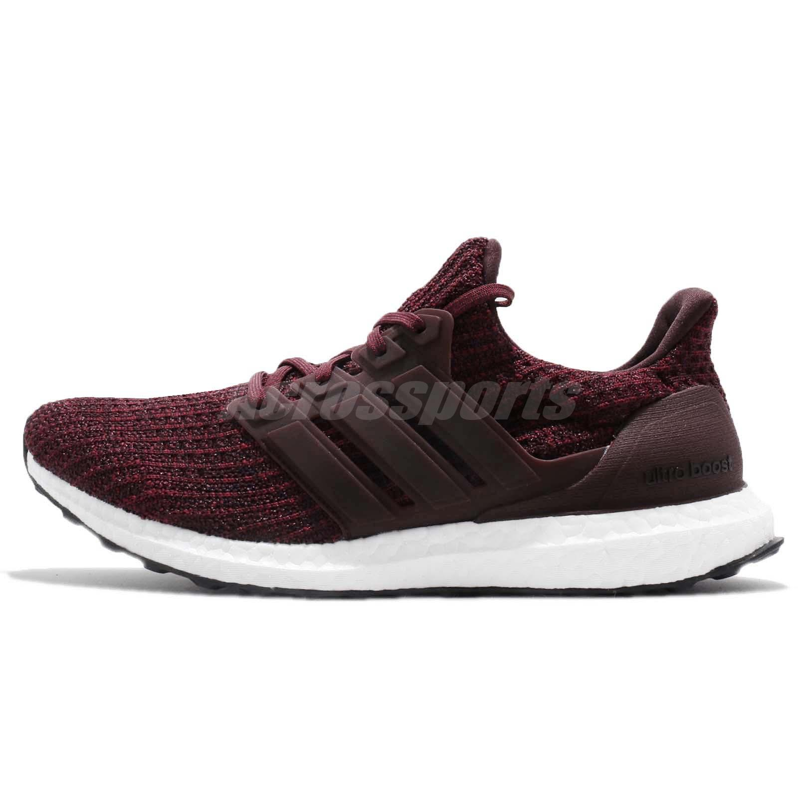 ba928a1c60f adidas UltraBOOST 4.0 Maroon Night Red White Men Running Shoes Sneakers  CM8115