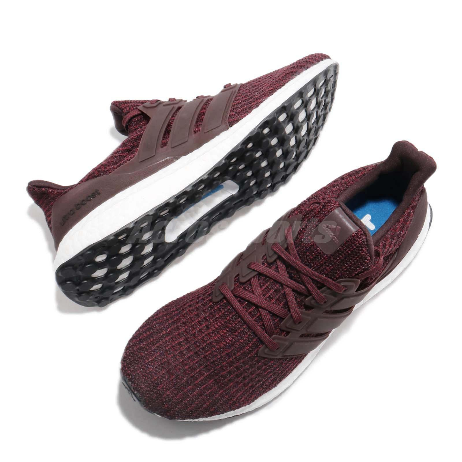 d9fee4a4ebc adidas UltraBOOST 4.0 Maroon Night Red White Men Running Shoes ...