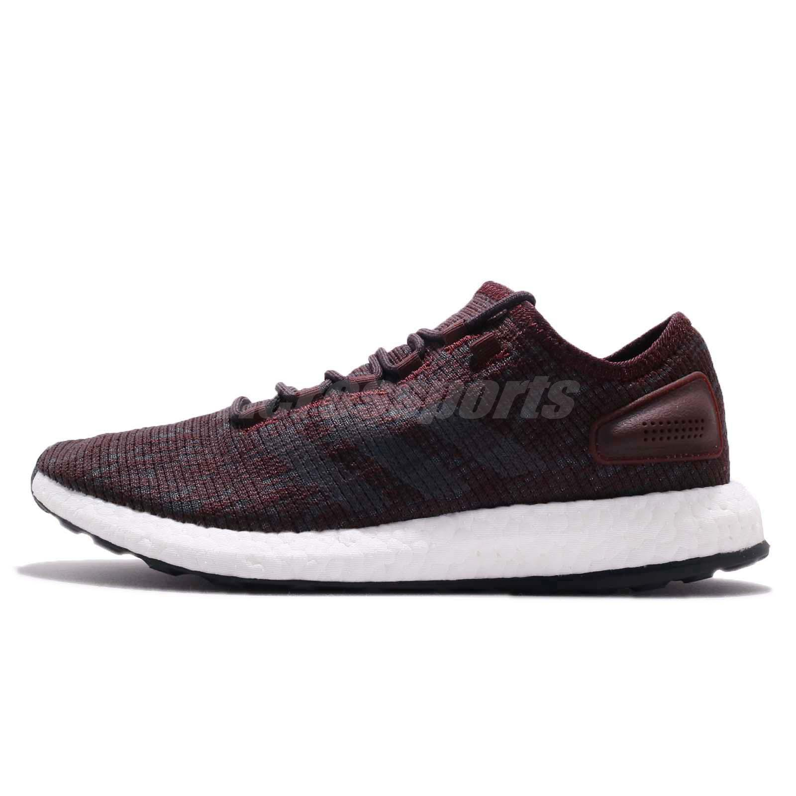 Adidas Men/'s NEW PureBoost Running Shoes Red-Black SoftFoam Training Sneakers