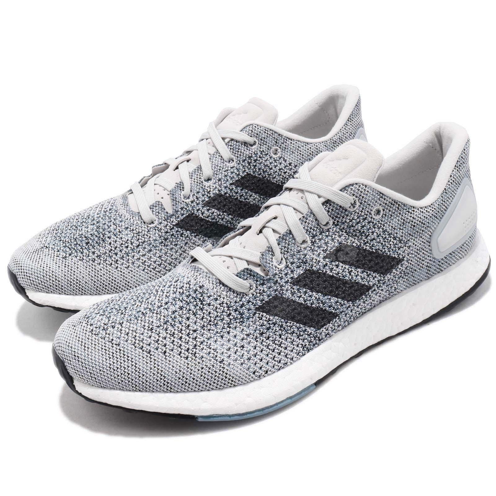 23e6fcfce4db4 Details about adidas PureBOOST DPR Grey White Mens Running Shoes Urban  Runner Sneakers CM8322