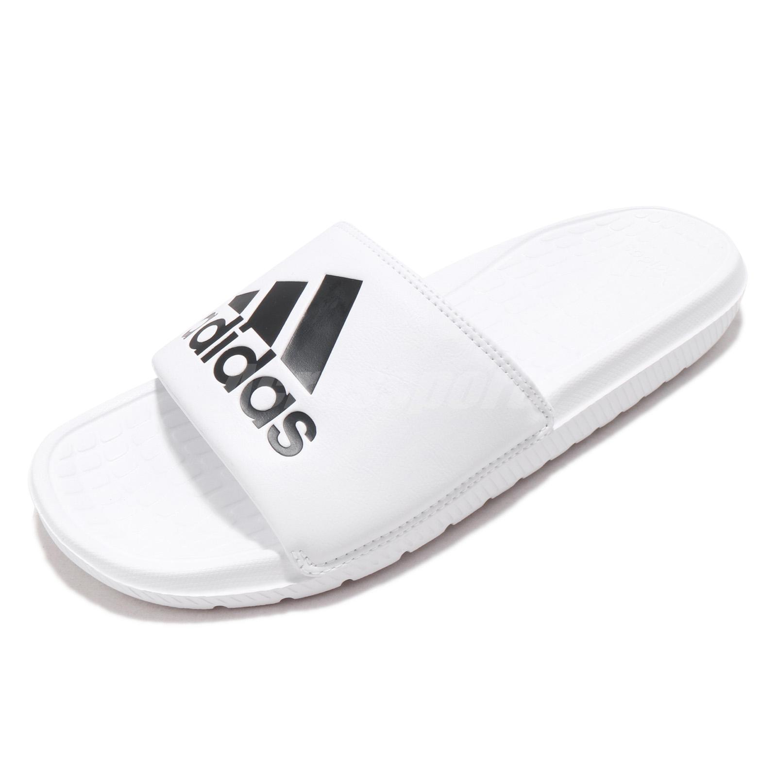 98c3d1730b42 Details about adidas Voloomix Slides Logo White Black Men Sports Sandals  Slippers CP9447