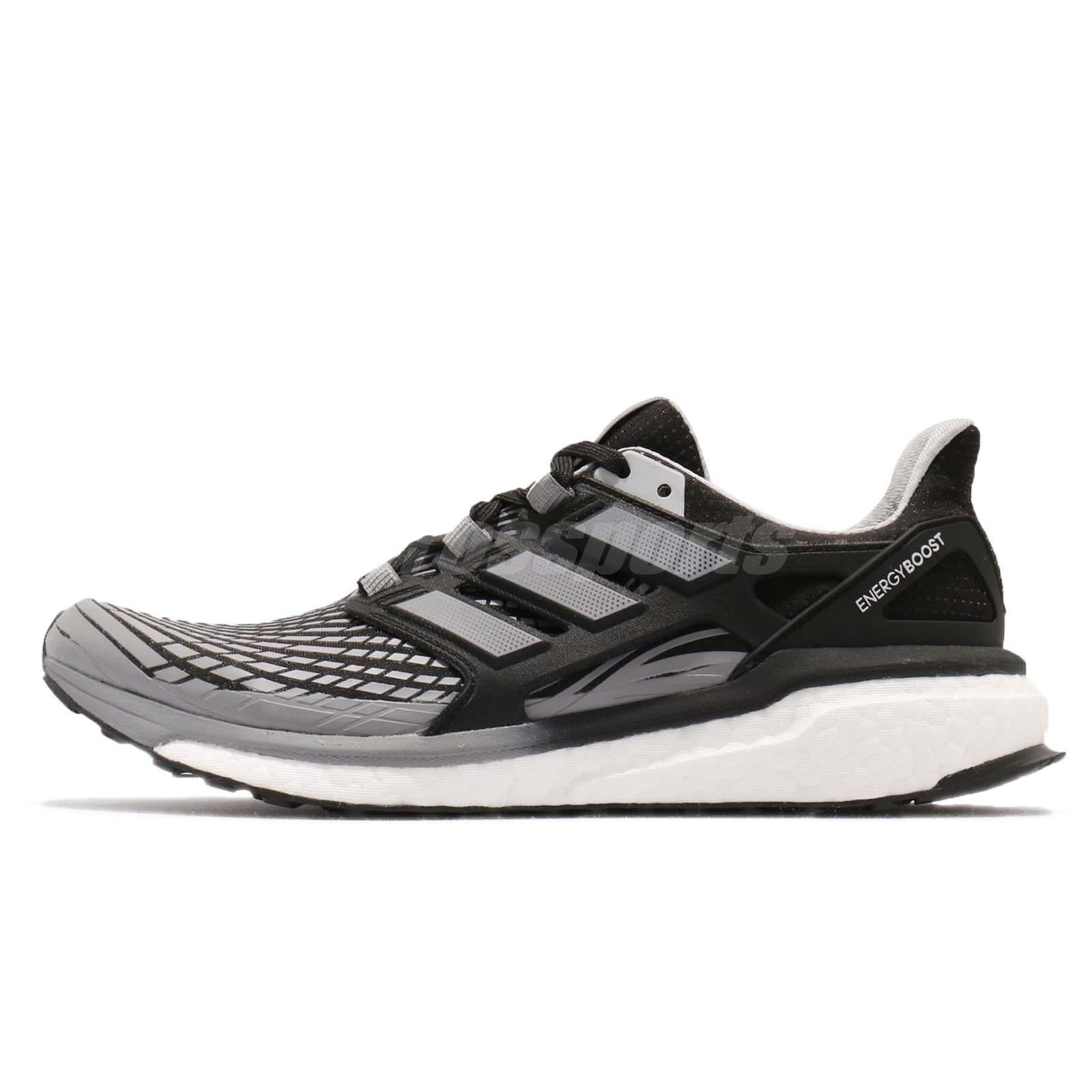 huge discount 8bce4 77da8 adidas Energy Boost M Continental Core Black Grey Men Running Shoes CP9541