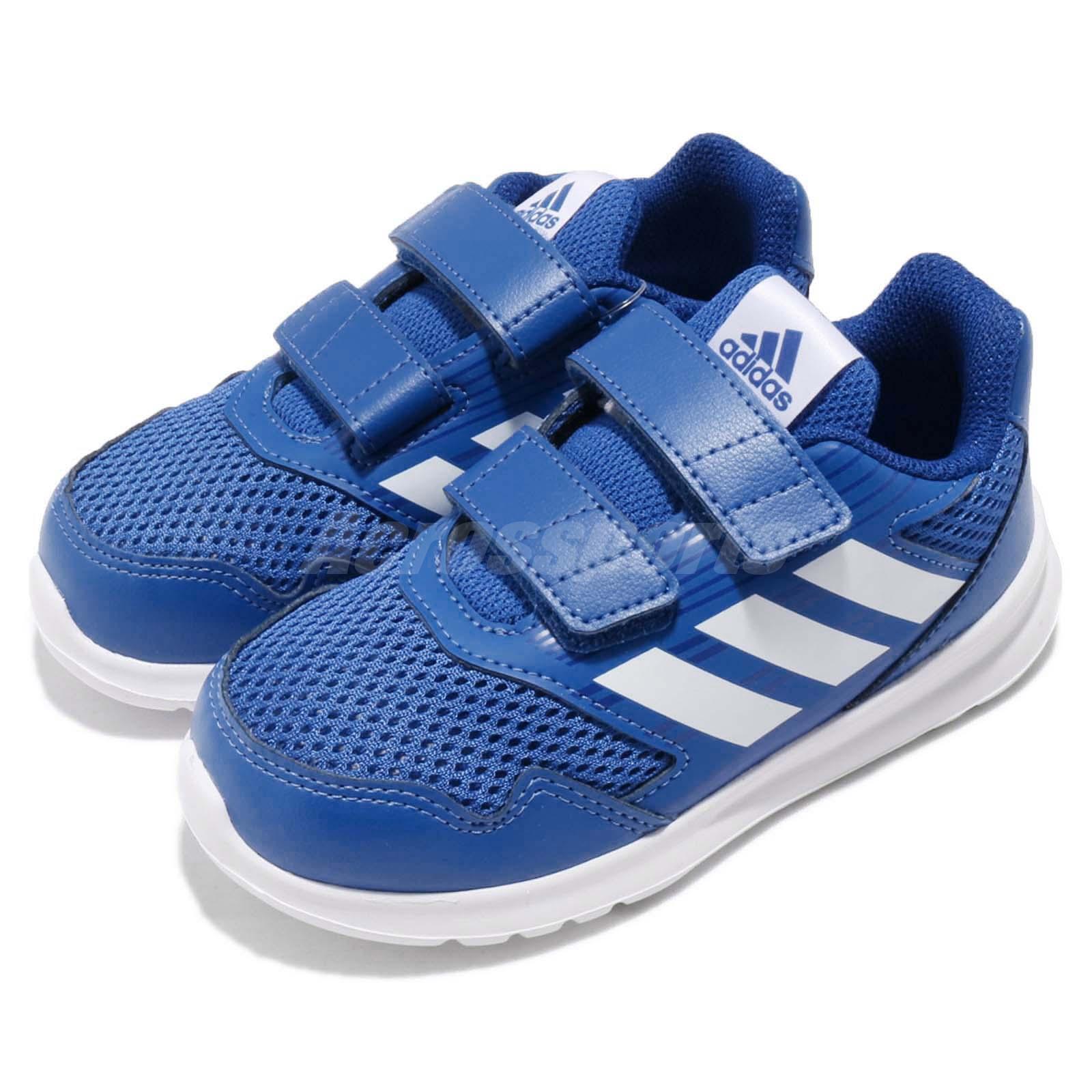 pretty nice de65e e4bd9 Details about adidas AltaRun CF I Cloudfoam Blue White Toddler Infant Running  Shoes CQ0028