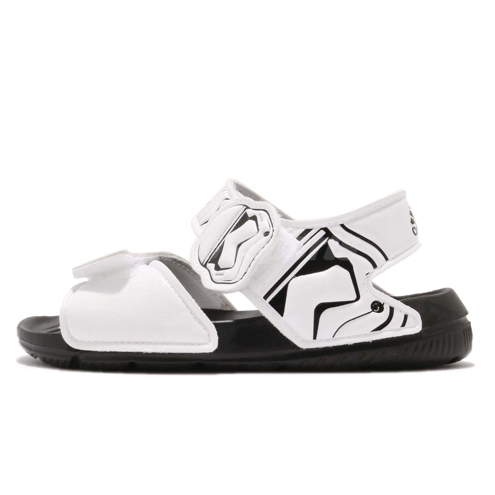 b2ea40d9d1289 adidas Star Wars AltaSwim C Stormtrooper Black White Kid Junior Sandal  CQ0127