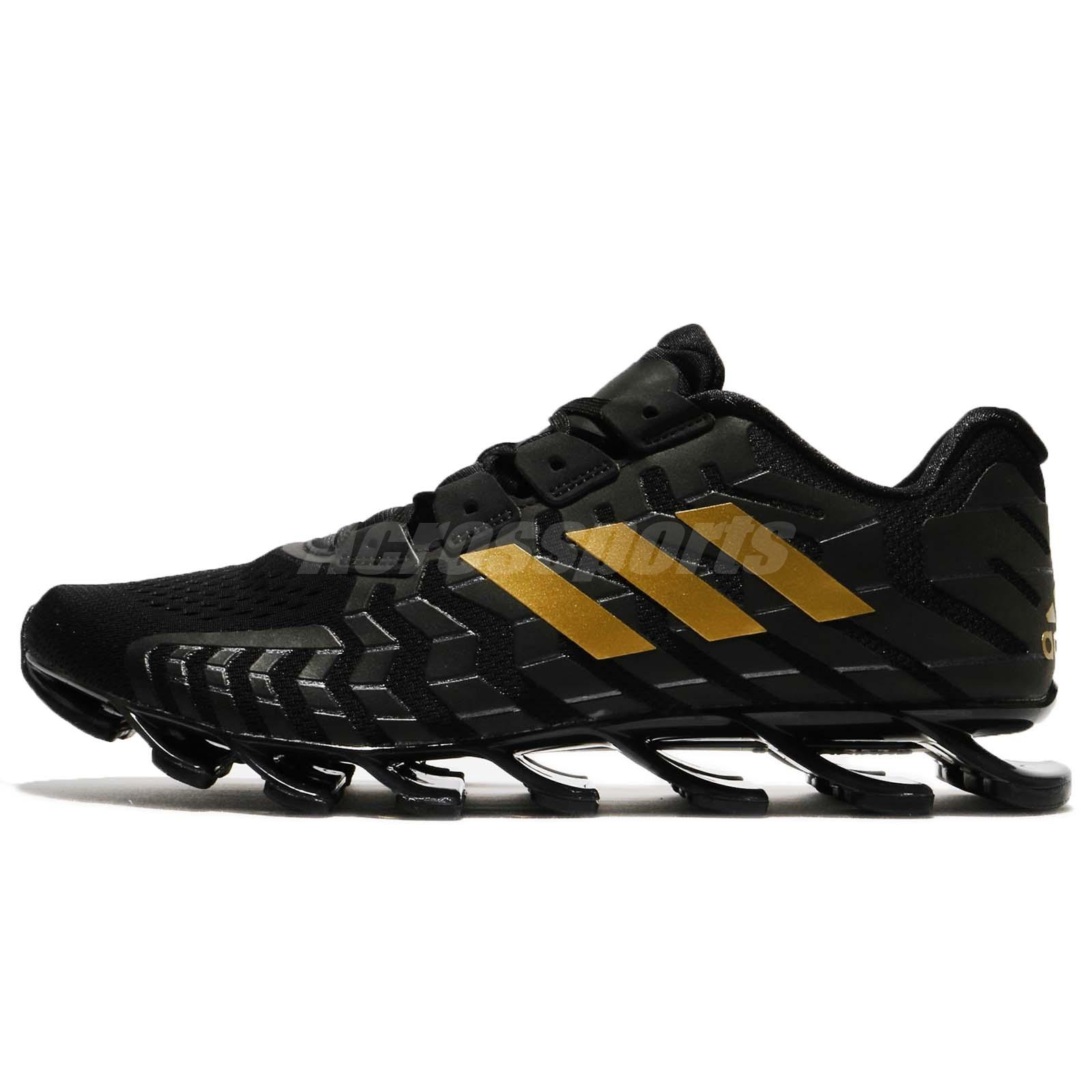 online store 90757 0d0c4 ... adidas Springblade Pro Black Gold Men Running Shoes Sneakers Trainers  CQ0662 ...