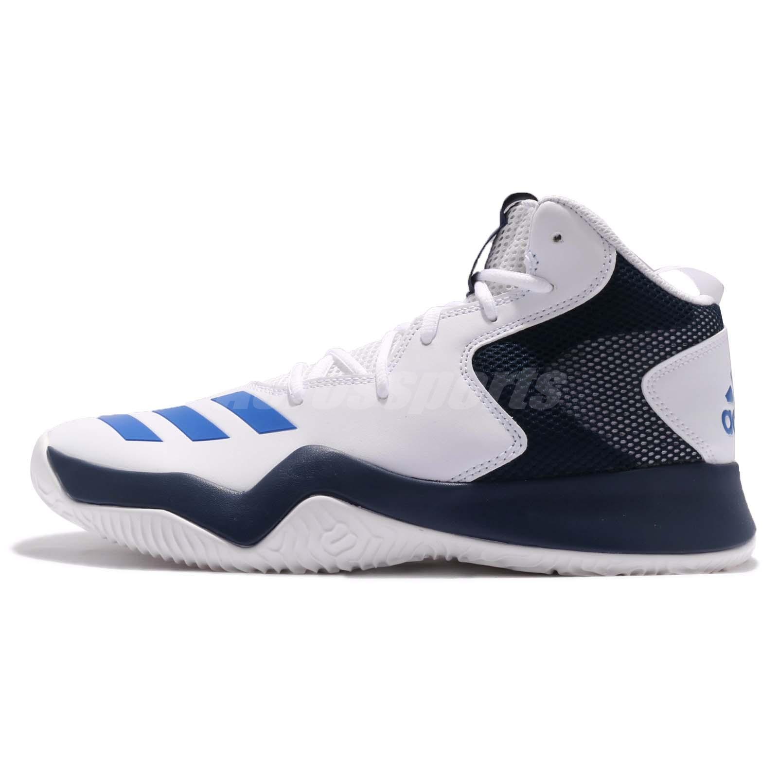 adidas Crazy Team II 2 Hi White Blue Navy Men Basketball Shoes Trainers  CQ0837 89319e1f330c