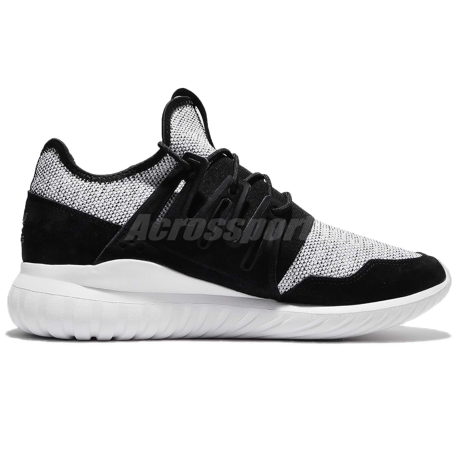 2442b63c99ce22 adidas Originals Tubular Radial Black White Men Running Shoes ...