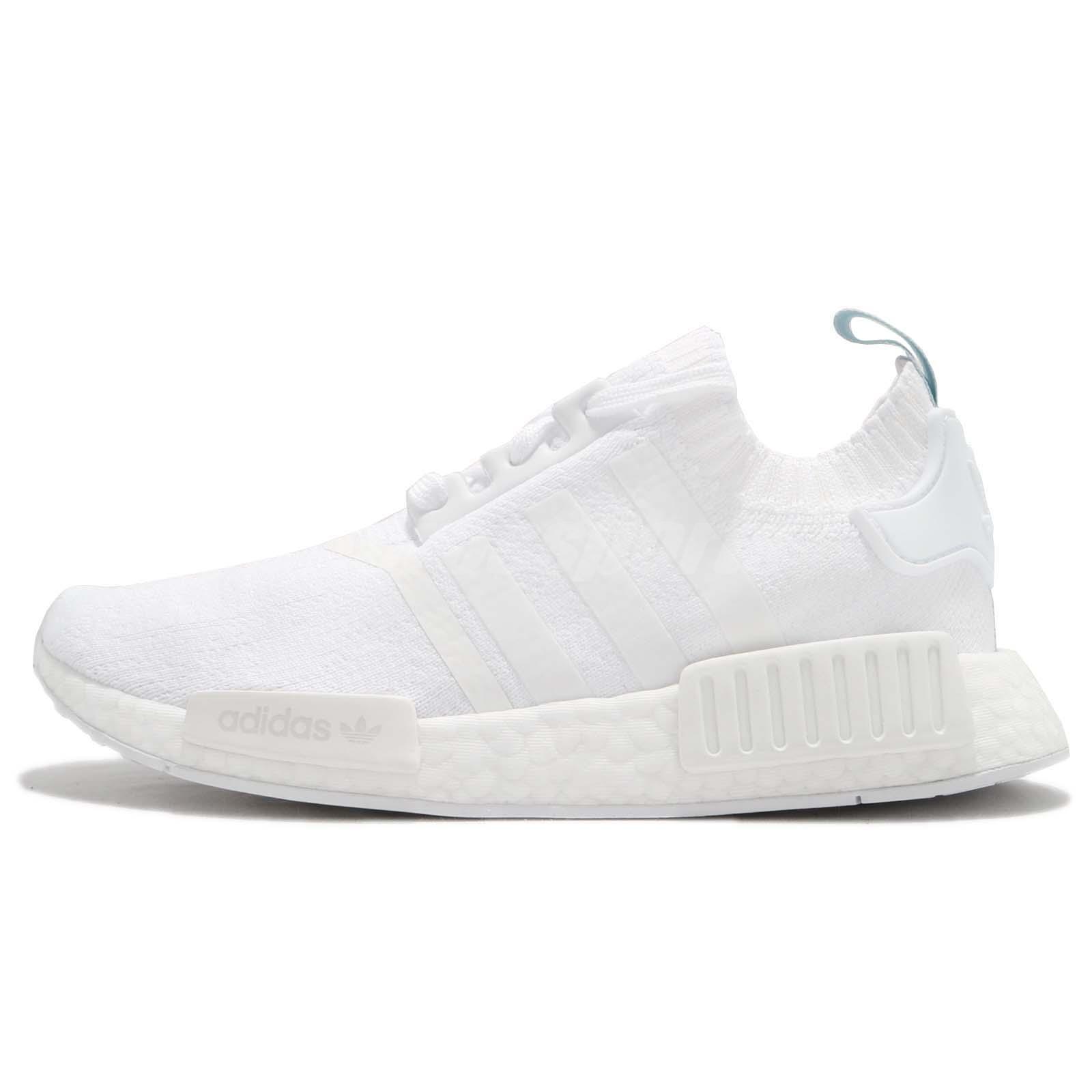 adidas Originals NMD_R1 PK W Primeknit White Blue Tint Women Running Shoe  CQ2040