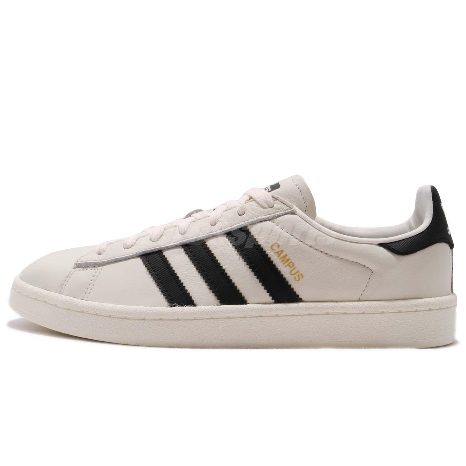 adidas Originals Campus Ivory Black Men Classic Shoes Sneakers CQ2070