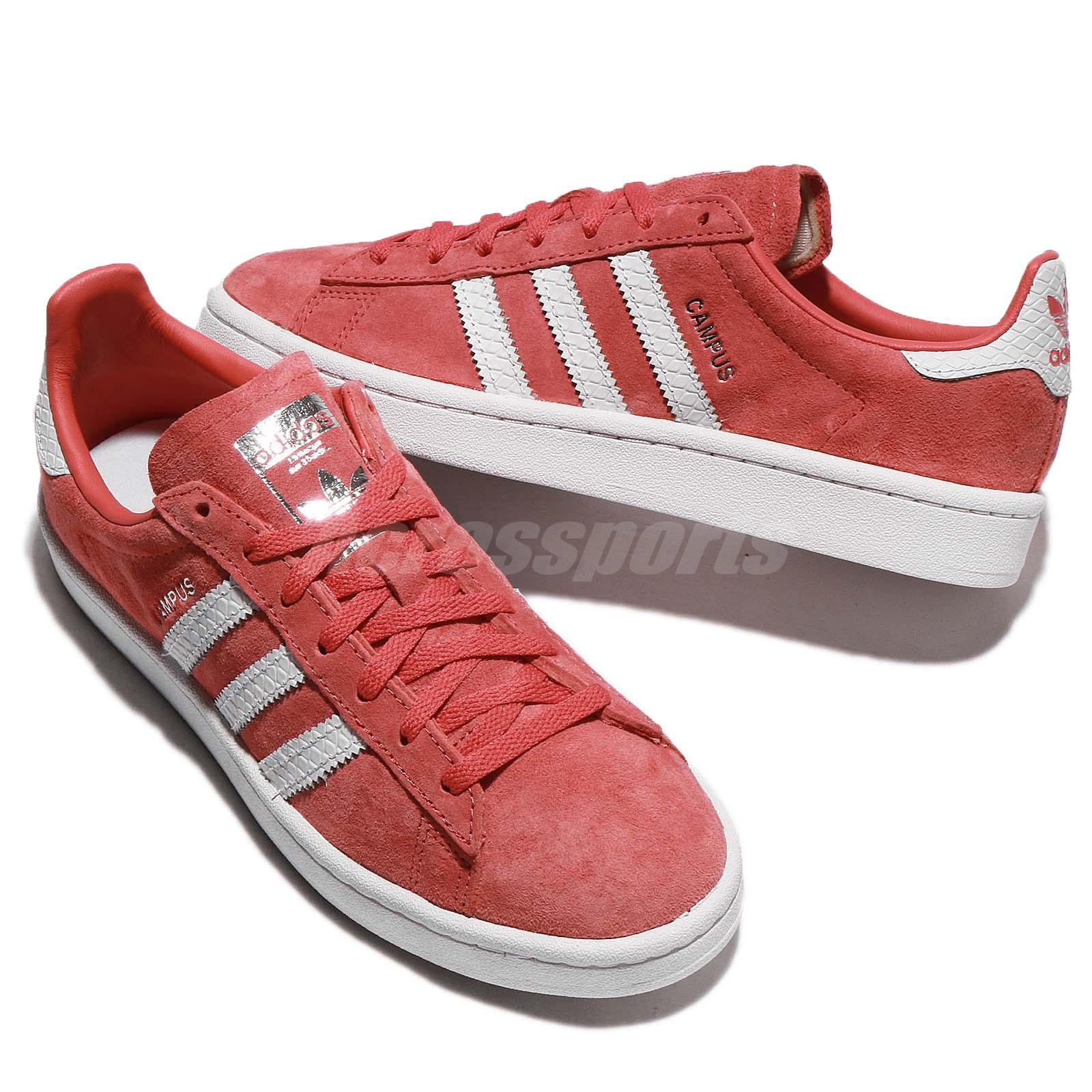 adidas Originals Campus W Trace Scarlet White Women Classic Shoes ... 9f28fbed1