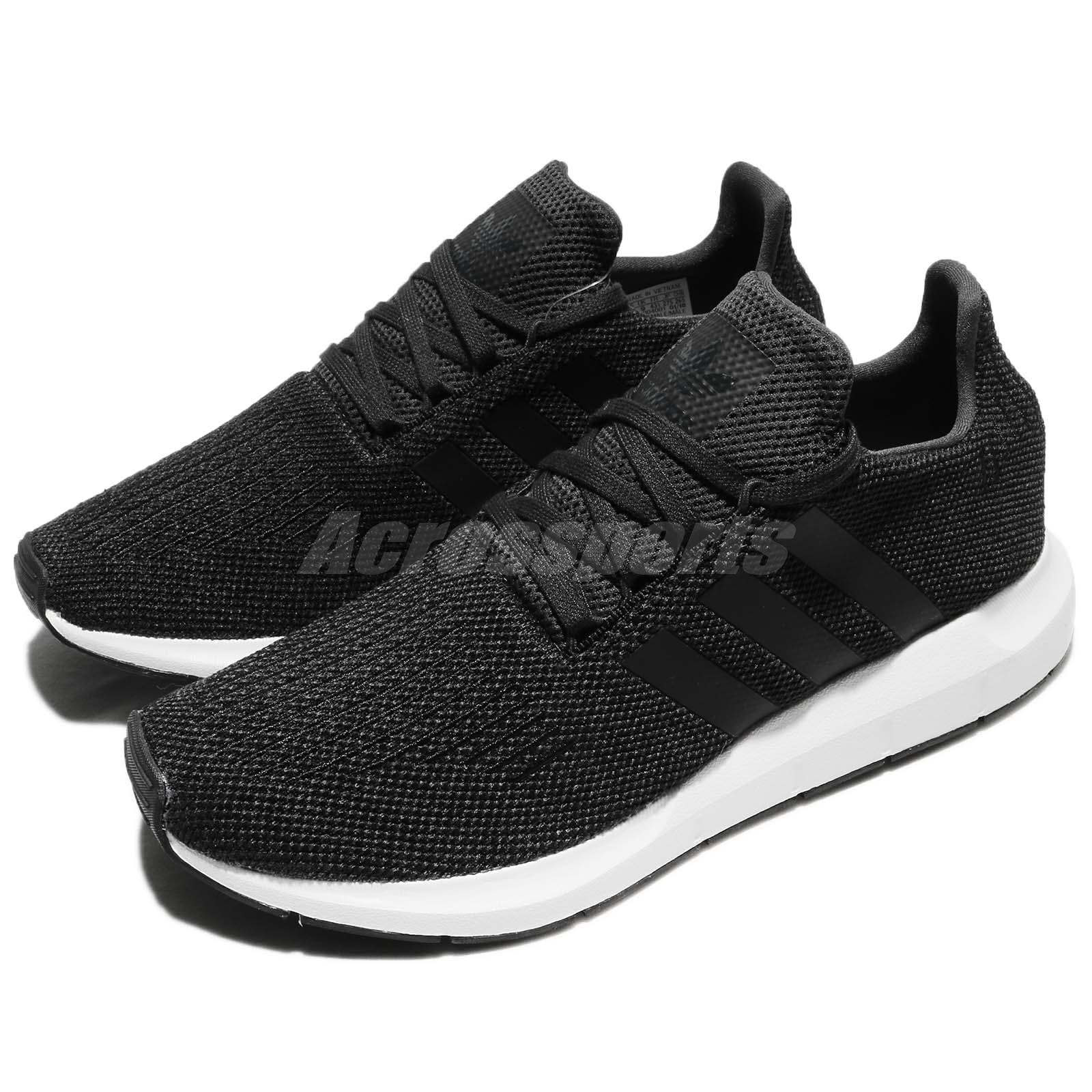 new style 8ab59 b15bf Details about adidas Originals Swift Run Carbon Black Men Running Shoes  Sneakers CQ2114