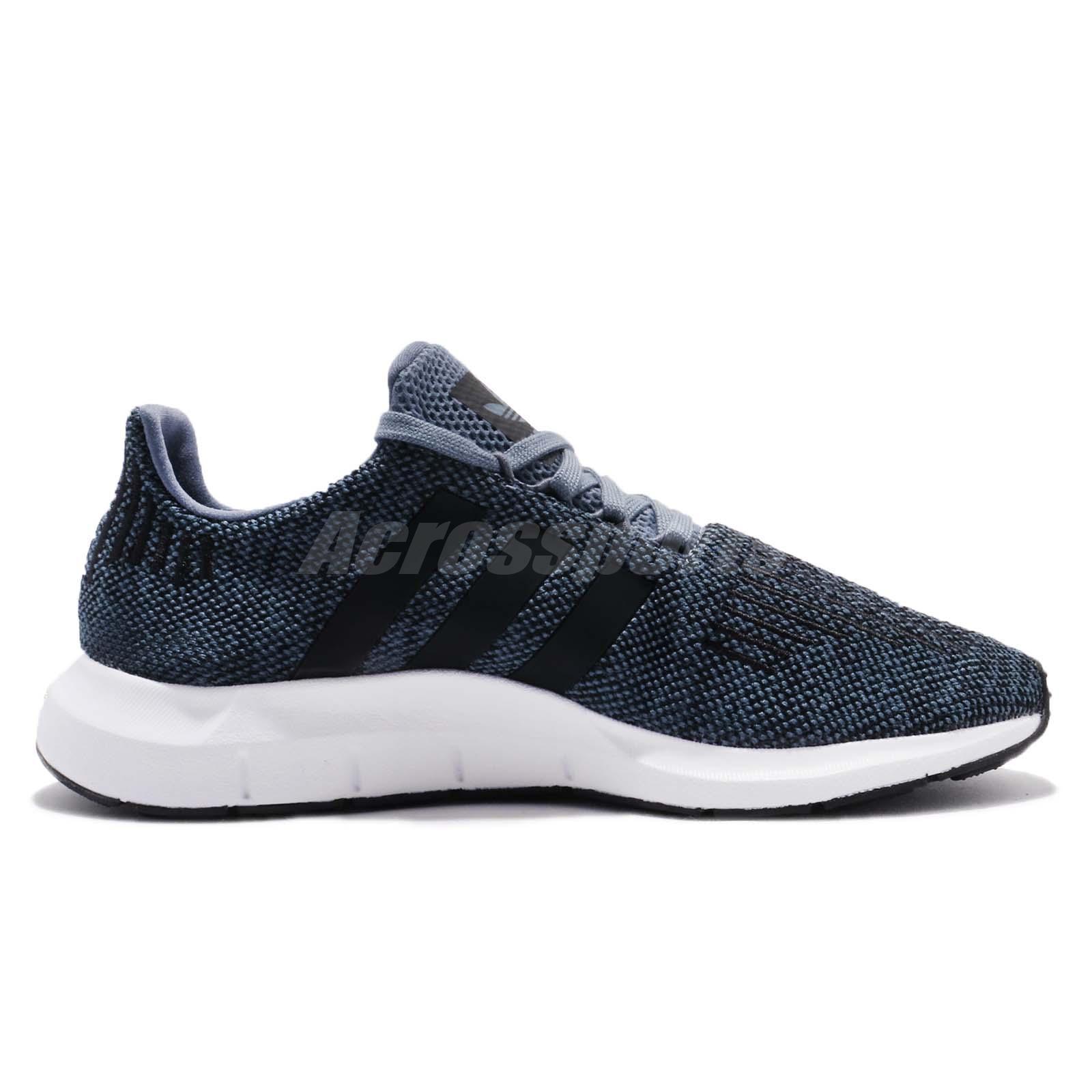 7de835c6ec3c adidas Swift Run Raw Steel Navy Black Men Running Shoes Sneakers ...
