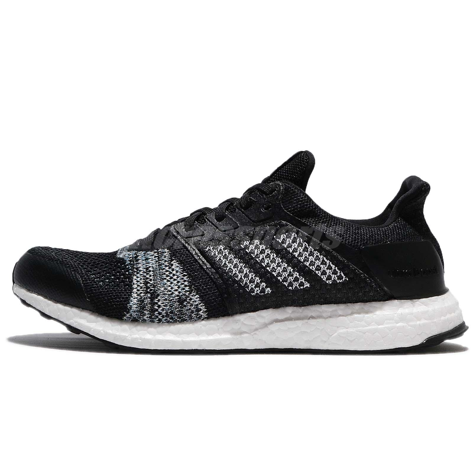 982d8d5ac adidas UltraB OOST ST M PrimeKnit Black White Men Running Shoes Sneakers  CQ2144